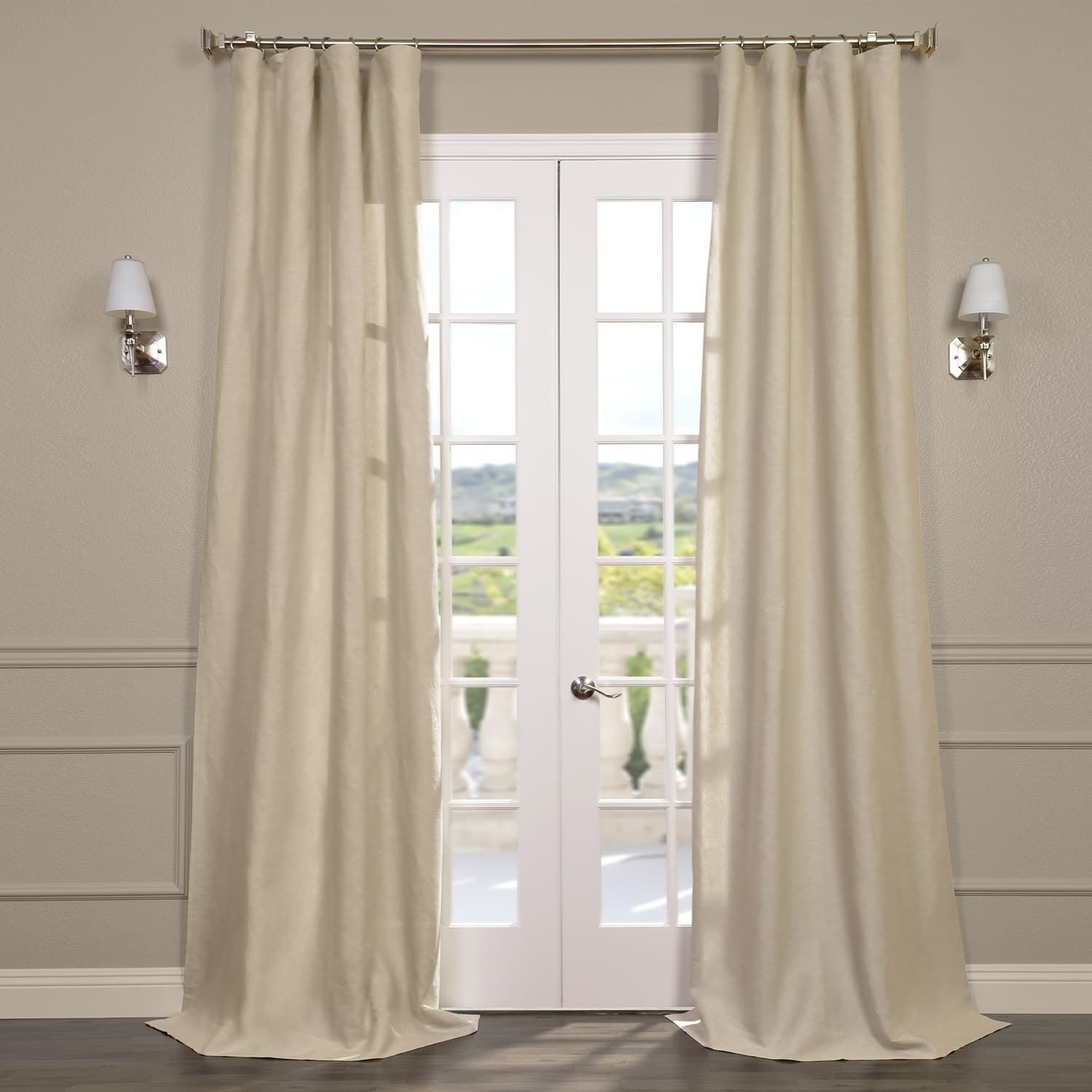 Exclusive Fabrics Signature French Linen Curtain Panel (84 With Regard To Signature French Linen Curtain Panels (View 9 of 30)