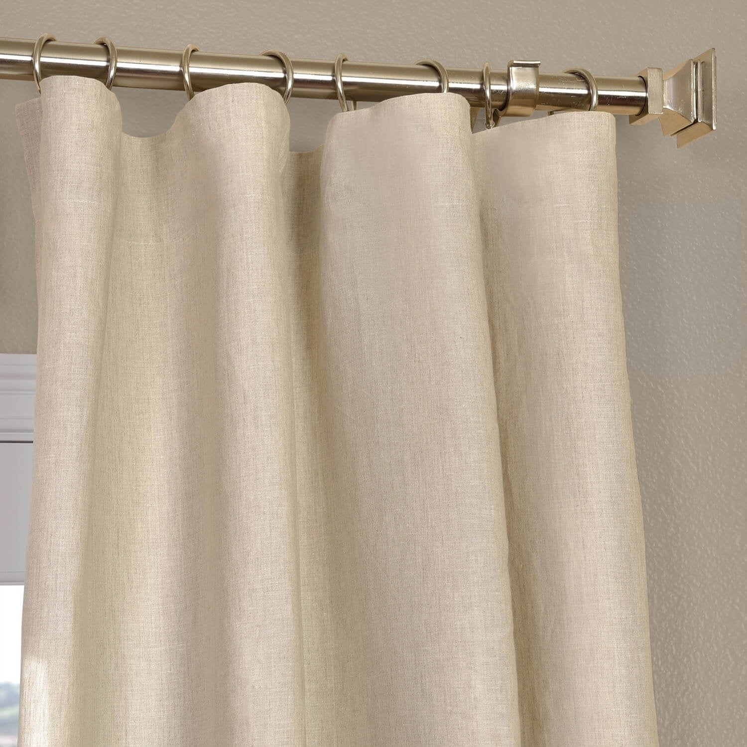 Exclusive Fabrics Signature French Linen Curtain Panel For Signature French Linen Curtain Panels (View 11 of 30)