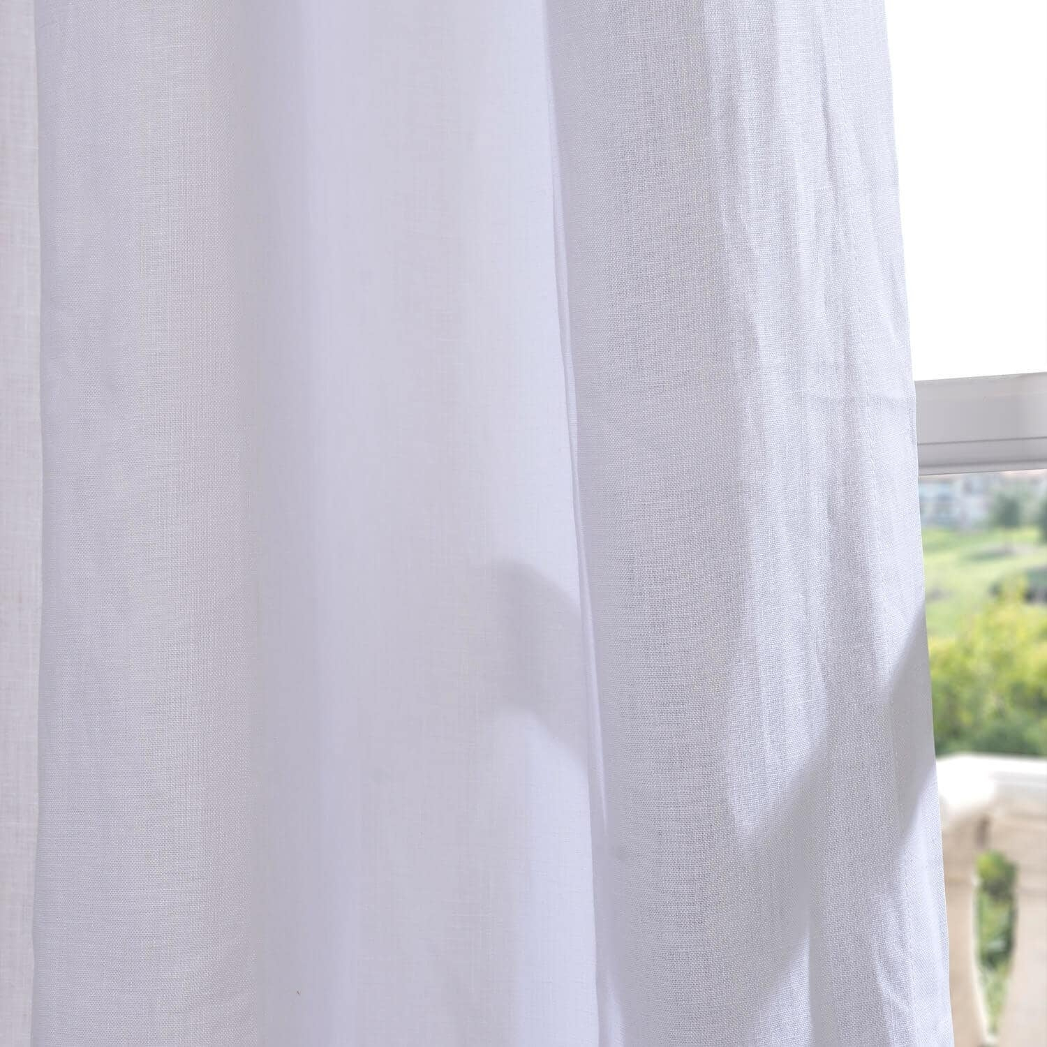 Exclusive Fabrics Signature French Linen Curtain Panel For Signature French Linen Curtain Panels (View 16 of 30)