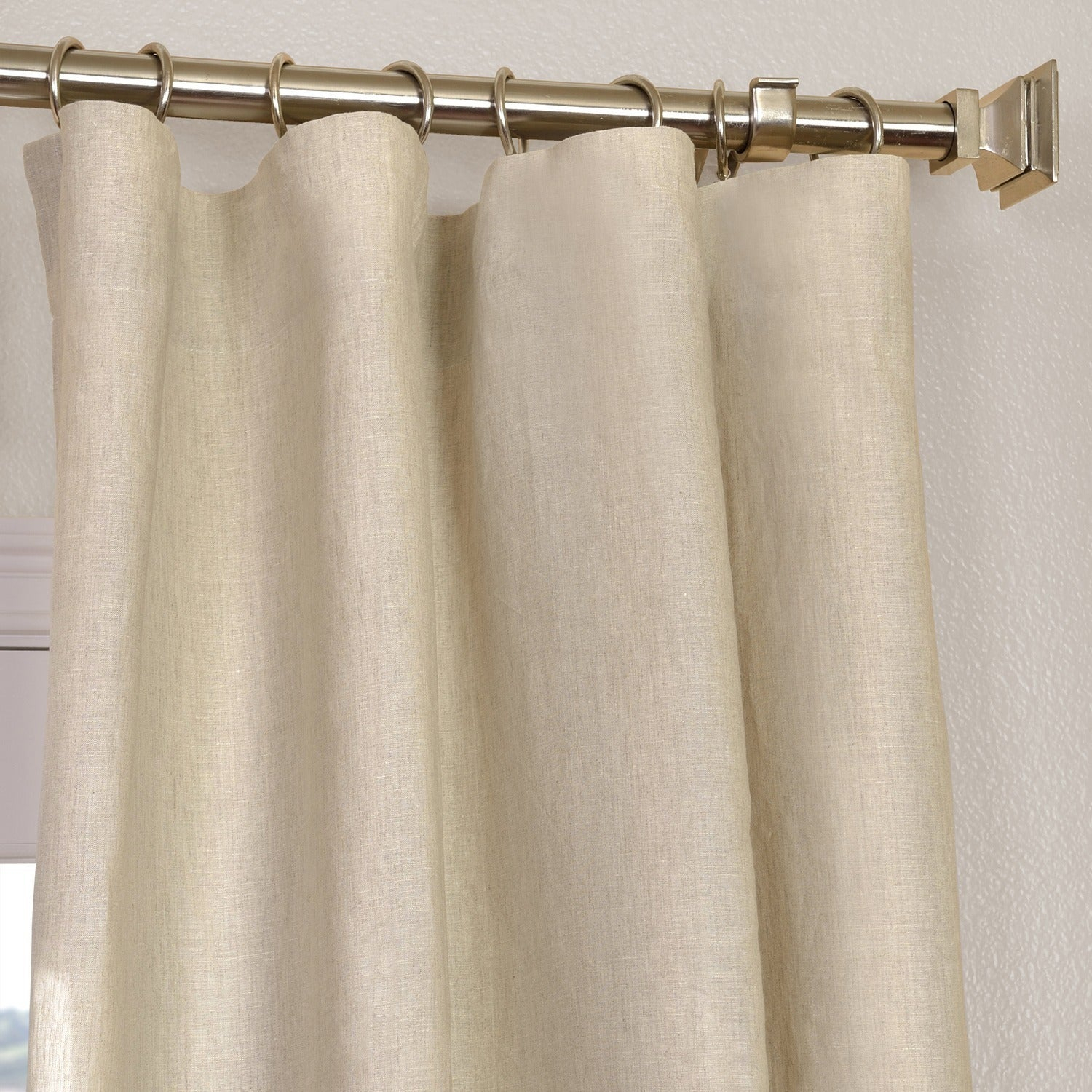 Exclusive Fabrics Signature French Linen Curtain Panel Inside Signature French Linen Curtain Panels (View 15 of 30)