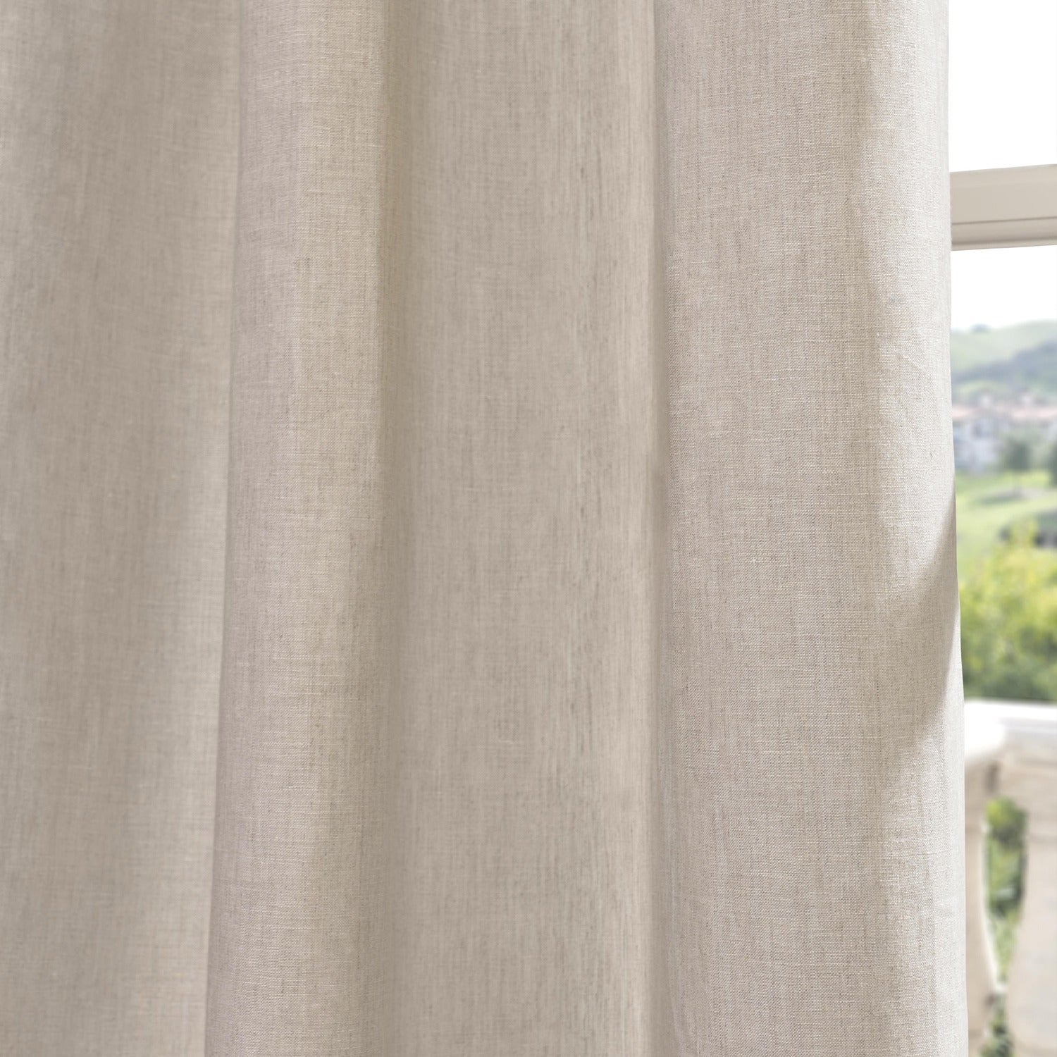 Exclusive Fabrics Signature French Linen Curtain Panel Inside Signature French Linen Curtain Panels (View 16 of 30)