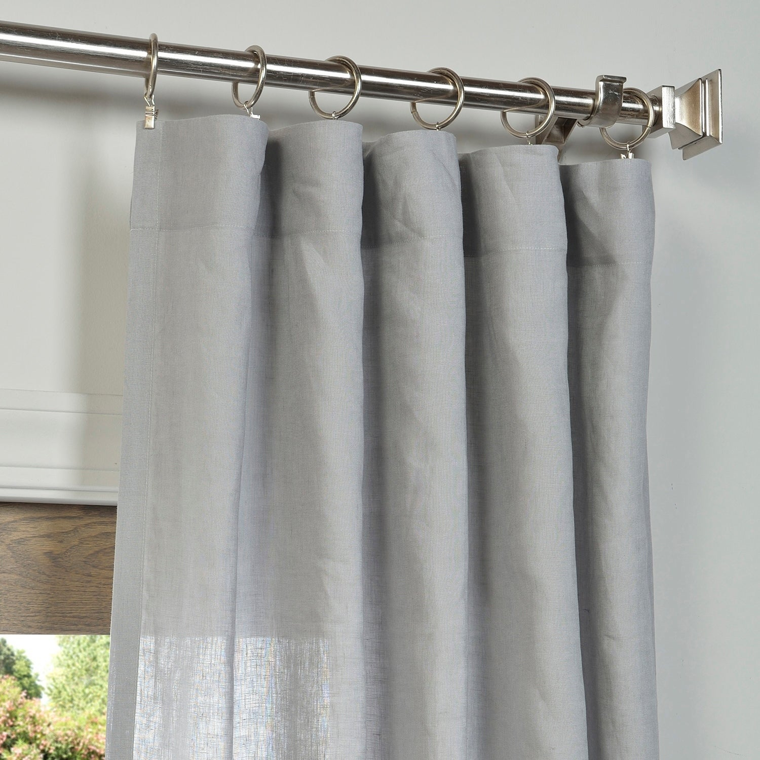 Exclusive Fabrics Signature French Linen Curtain Panel Intended For Signature French Linen Curtain Panels (View 17 of 30)