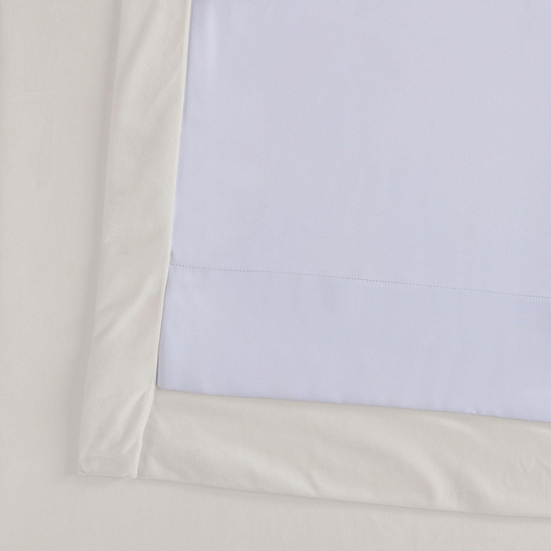 Exclusive Fabrics Signature Ivory Velvet Blackout Single Curtain Panel Inside Signature Ivory Velvet Blackout Single Curtain Panels (View 13 of 34)