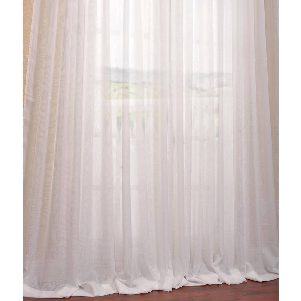 Exclusive Fabrics Signature Off White Extra Wide Double Within Signature White Double Layer Sheer Curtain Panels (View 13 of 30)