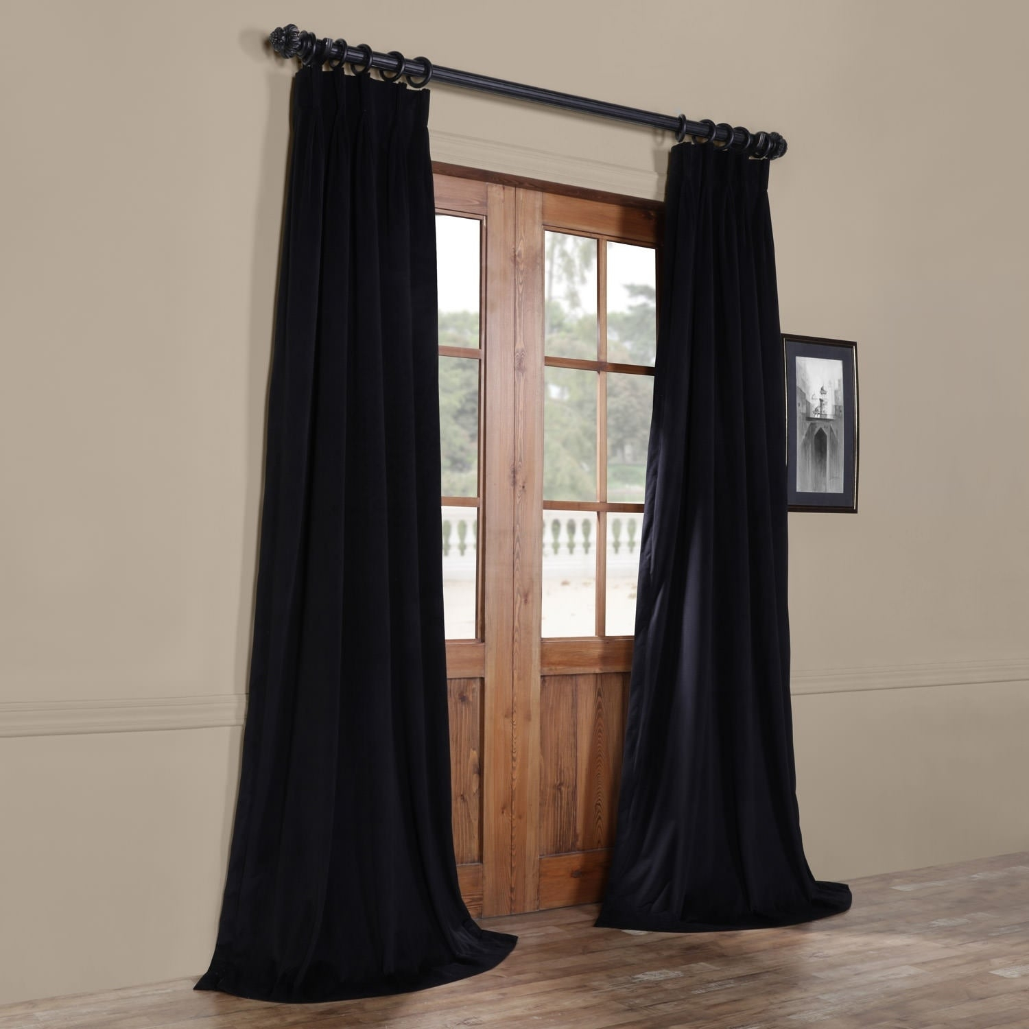 Popular Photo of Signature Pinch Pleated Blackout Solid Velvet Curtain Panels