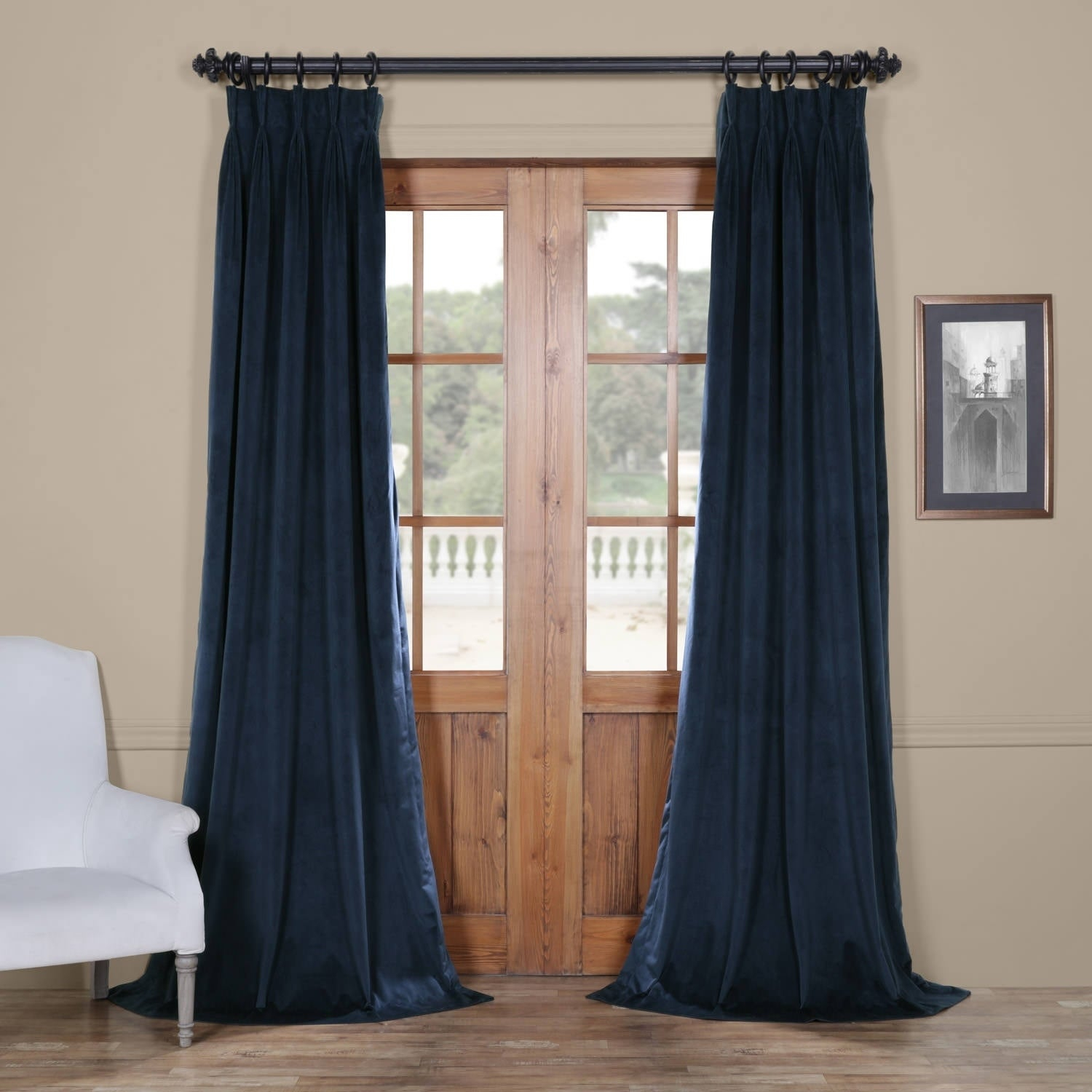 Exclusive Fabrics Signature Pinch Pleated Blackout Solid Velvet Curtain Panel With Regard To Signature Pinch Pleated Blackout Solid Velvet Curtain Panels (View 16 of 36)
