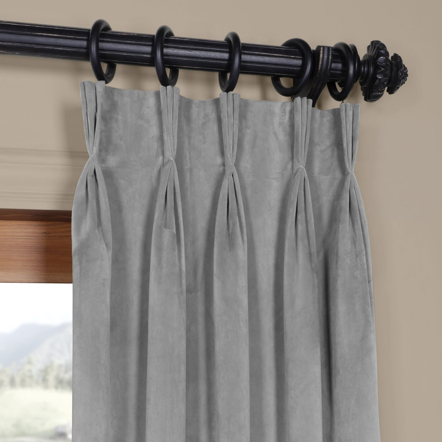 Exclusive Fabrics Signature Pinch Pleated Blackout Solid Velvet Curtain Panel With Regard To Signature Pinch Pleated Blackout Solid Velvet Curtain Panels (View 17 of 36)