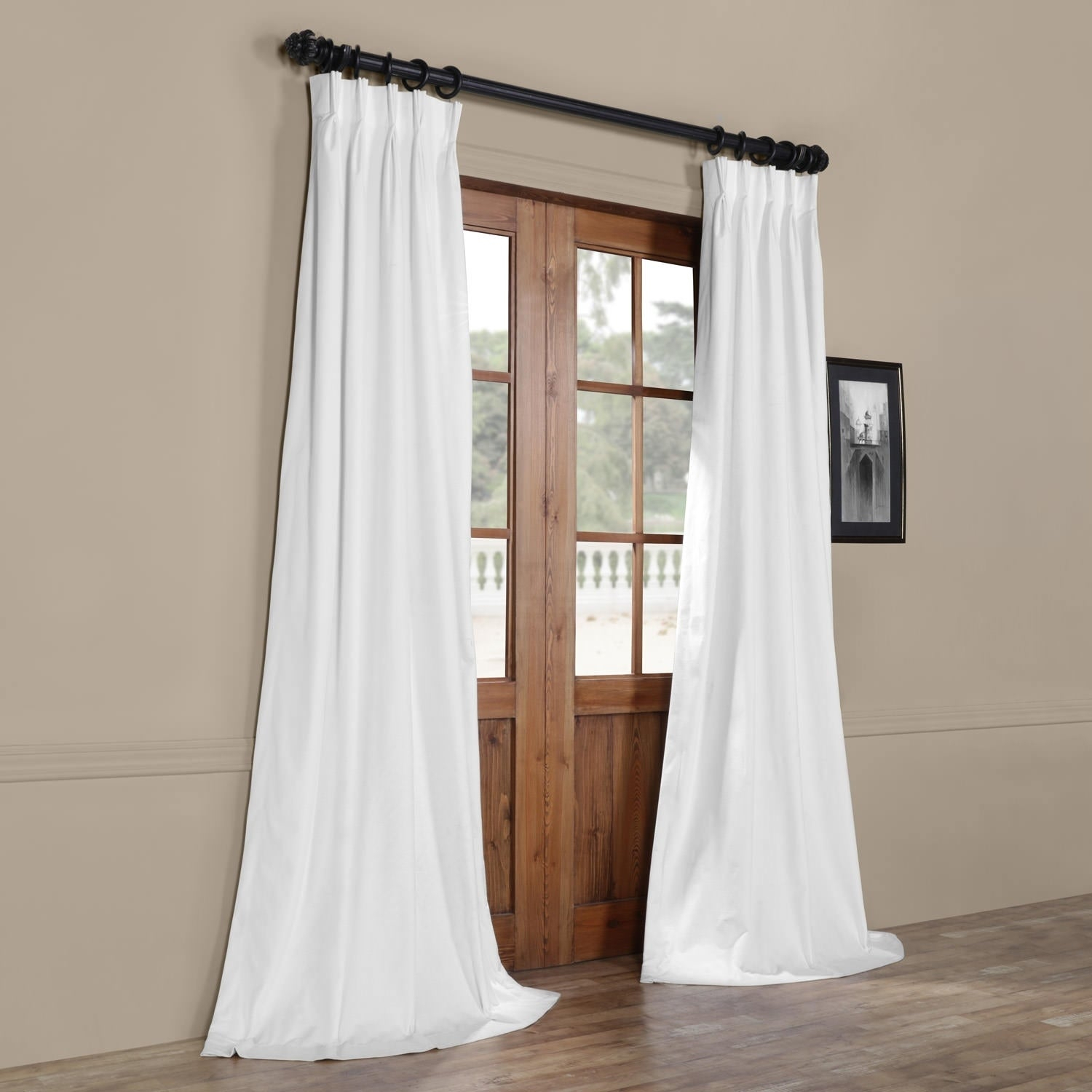 Exclusive Fabrics Signature Pinch Pleated Blackout Solid Velvet Curtain Panel With Regard To Signature Pinch Pleated Blackout Solid Velvet Curtain Panels (View 15 of 36)