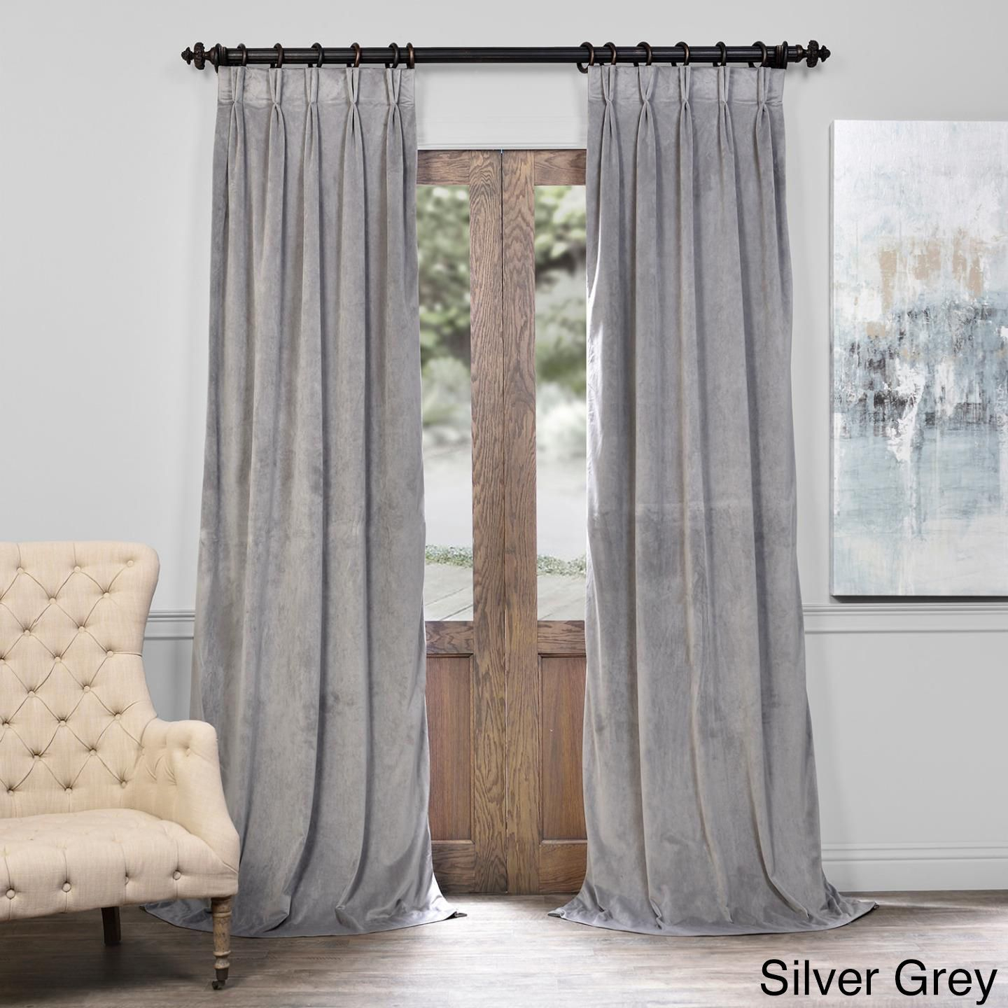 Exclusive Fabrics Signature Pinch Pleated Blackout Solid With Regard To Signature Pinch Pleated Blackout Solid Velvet Curtain Panels (View 12 of 36)