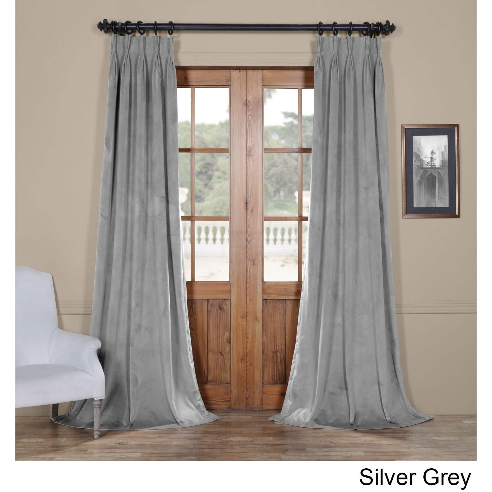 Exclusive Fabrics Signature Pinch Pleated Blackout Solid With Signature Pinch Pleated Blackout Solid Velvet Curtain Panels (View 13 of 36)