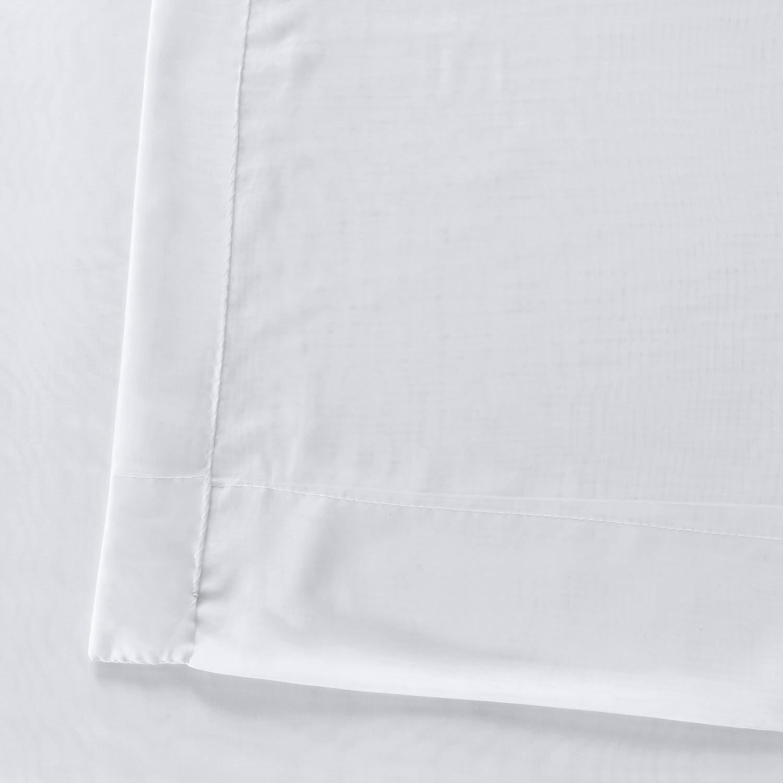 Exclusive Fabrics Signature White Double Layer Sheer Curtain Panel Inside Signature White Double Layer Sheer Curtain Panels (View 7 of 30)