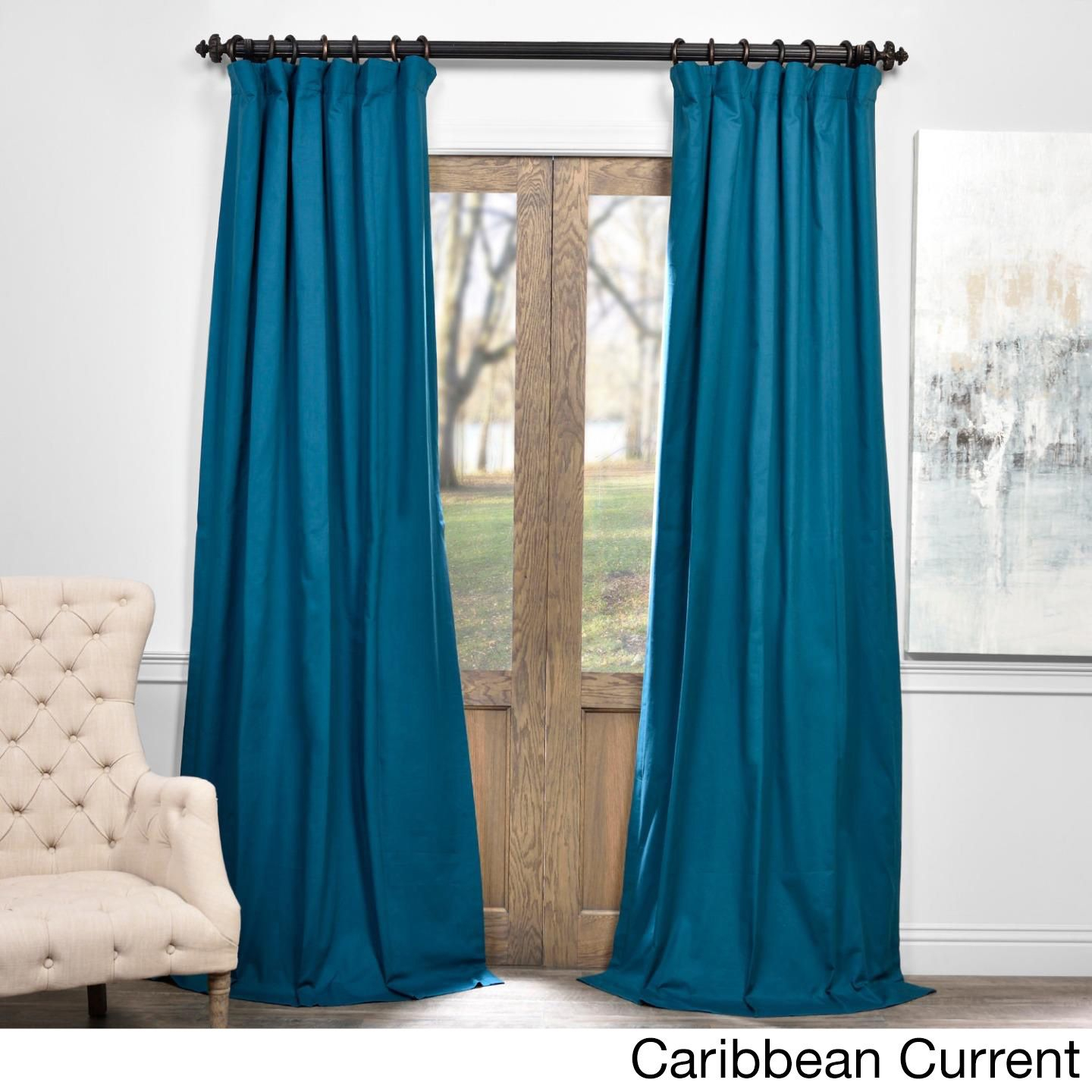 Exclusive Fabrics Solid Cotton True Blackout Curtain Panel For Solid Cotton True Blackout Curtain Panels (View 4 of 30)