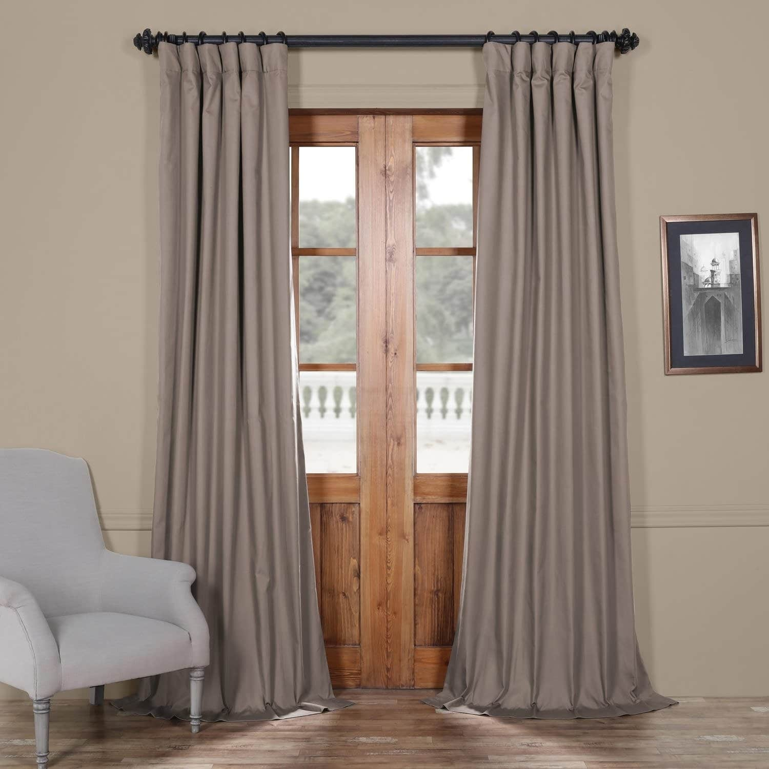 Exclusive Fabrics Solid Cotton True Blackout Curtain Panel With Solid Cotton True Blackout Curtain Panels (View 3 of 30)