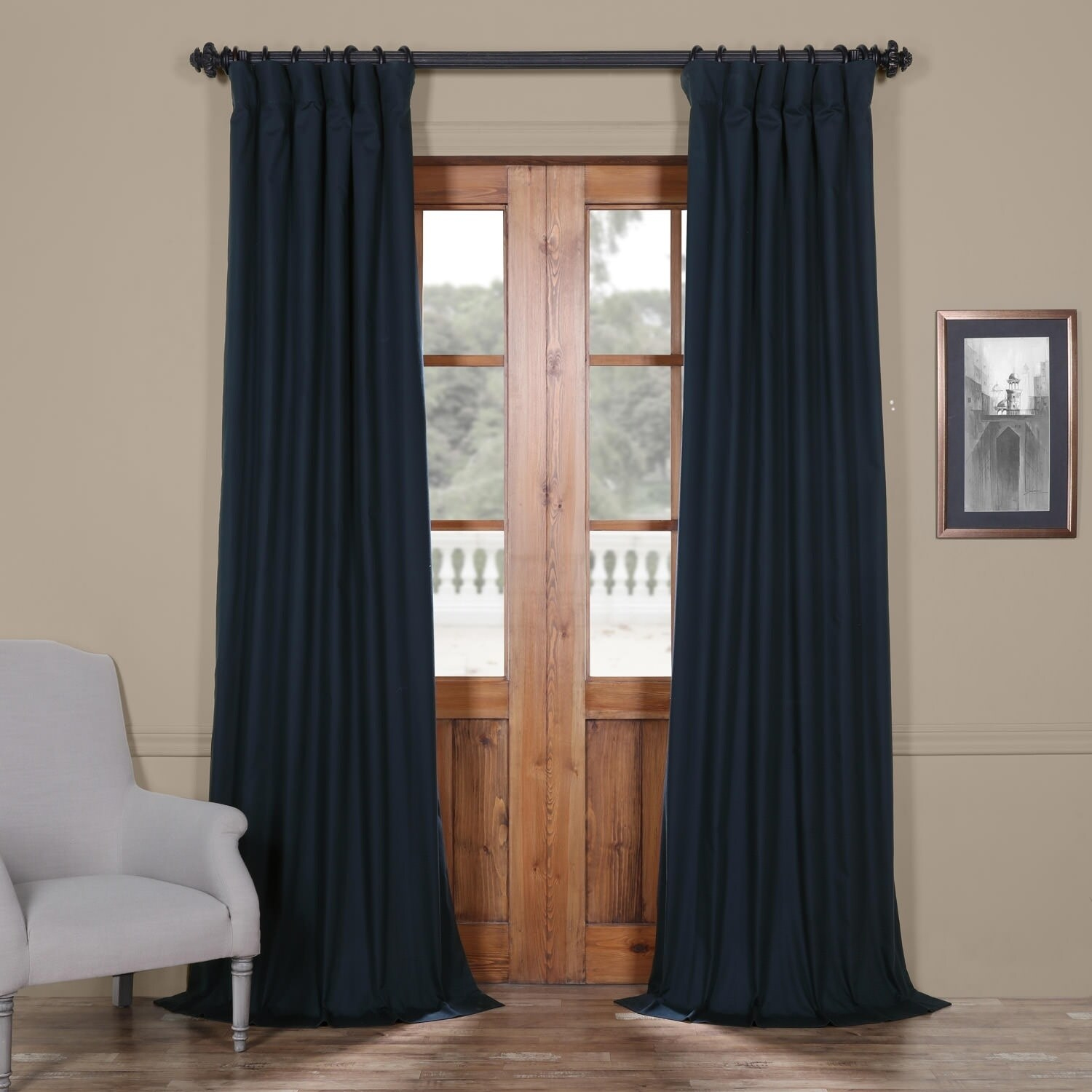 Featured Photo of Solid Cotton True Blackout Curtain Panels