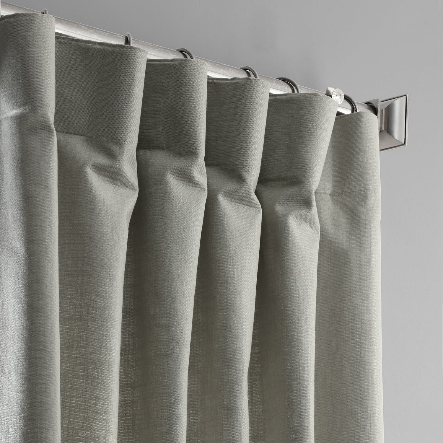 Exclusive Fabrics Solid Country Cotton Linen Weave Curtain Panel Inside Solid Country Cotton Linen Weave Curtain Panels (View 20 of 30)