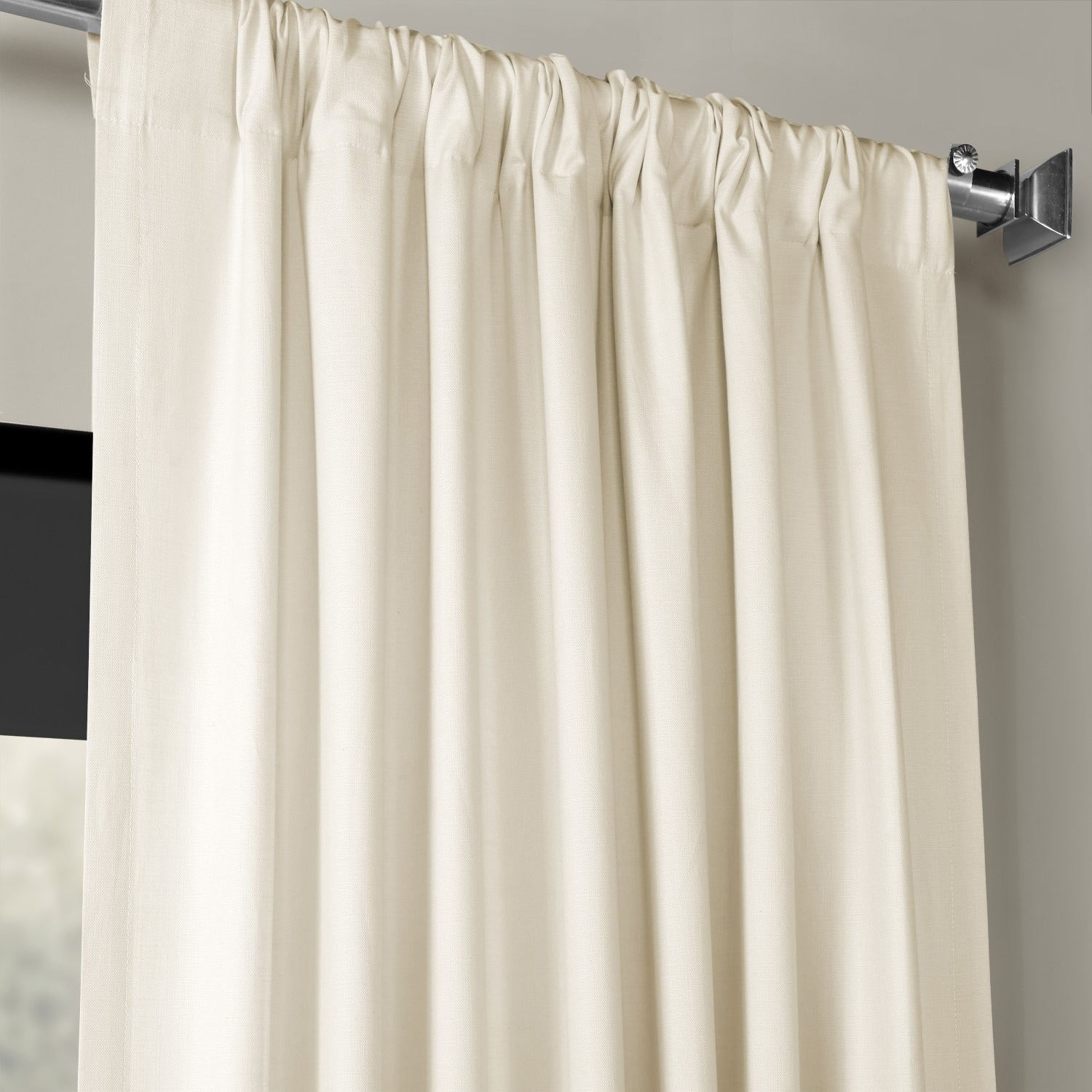 Exclusive Fabrics Solid Country Cotton Linen Weave Curtain Panel Intended For Solid Country Cotton Linen Weave Curtain Panels (View 5 of 30)