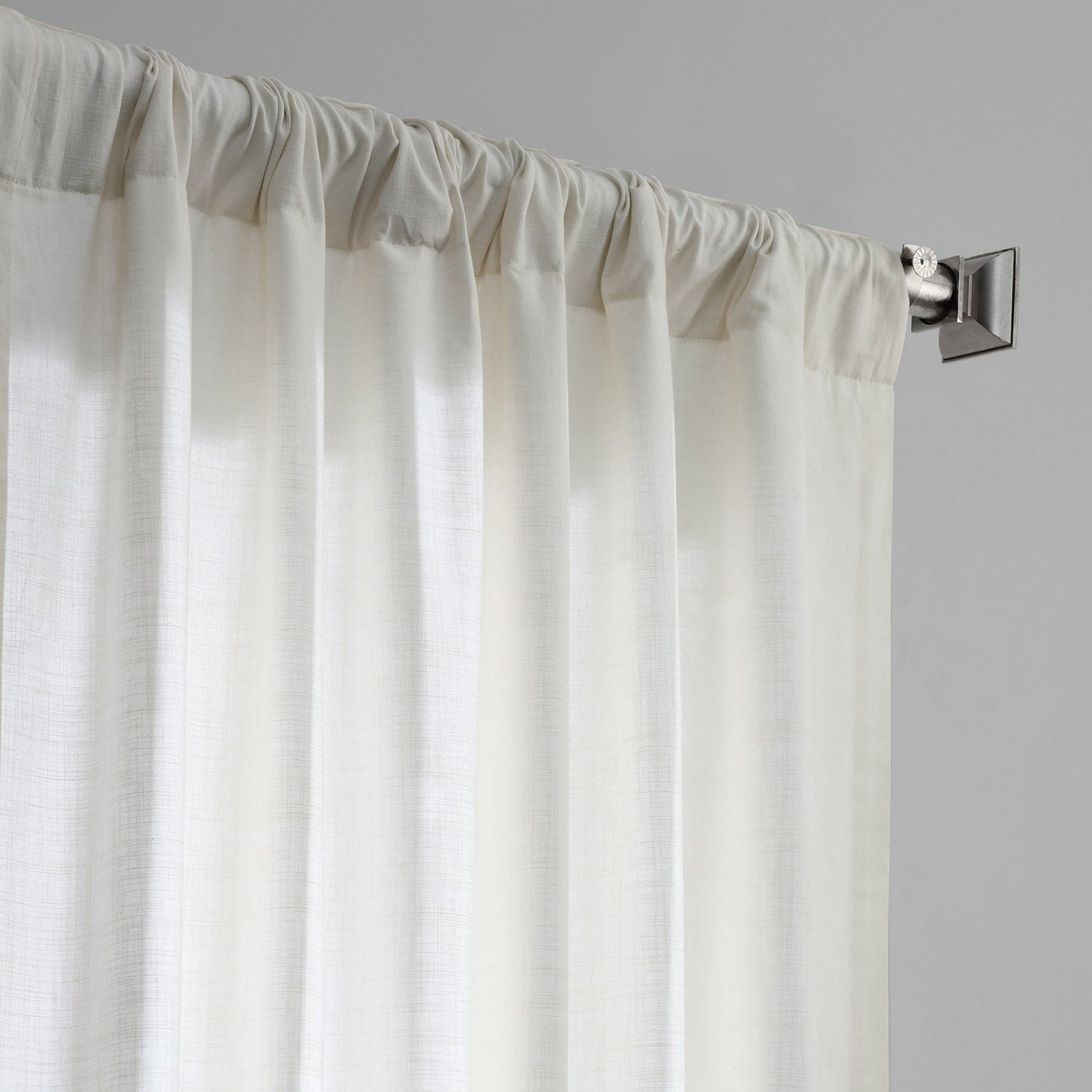 Exclusive Fabrics Solid Country Cotton Linen Weave Curtain Panel Pertaining To Solid Country Cotton Linen Weave Curtain Panels (View 17 of 30)