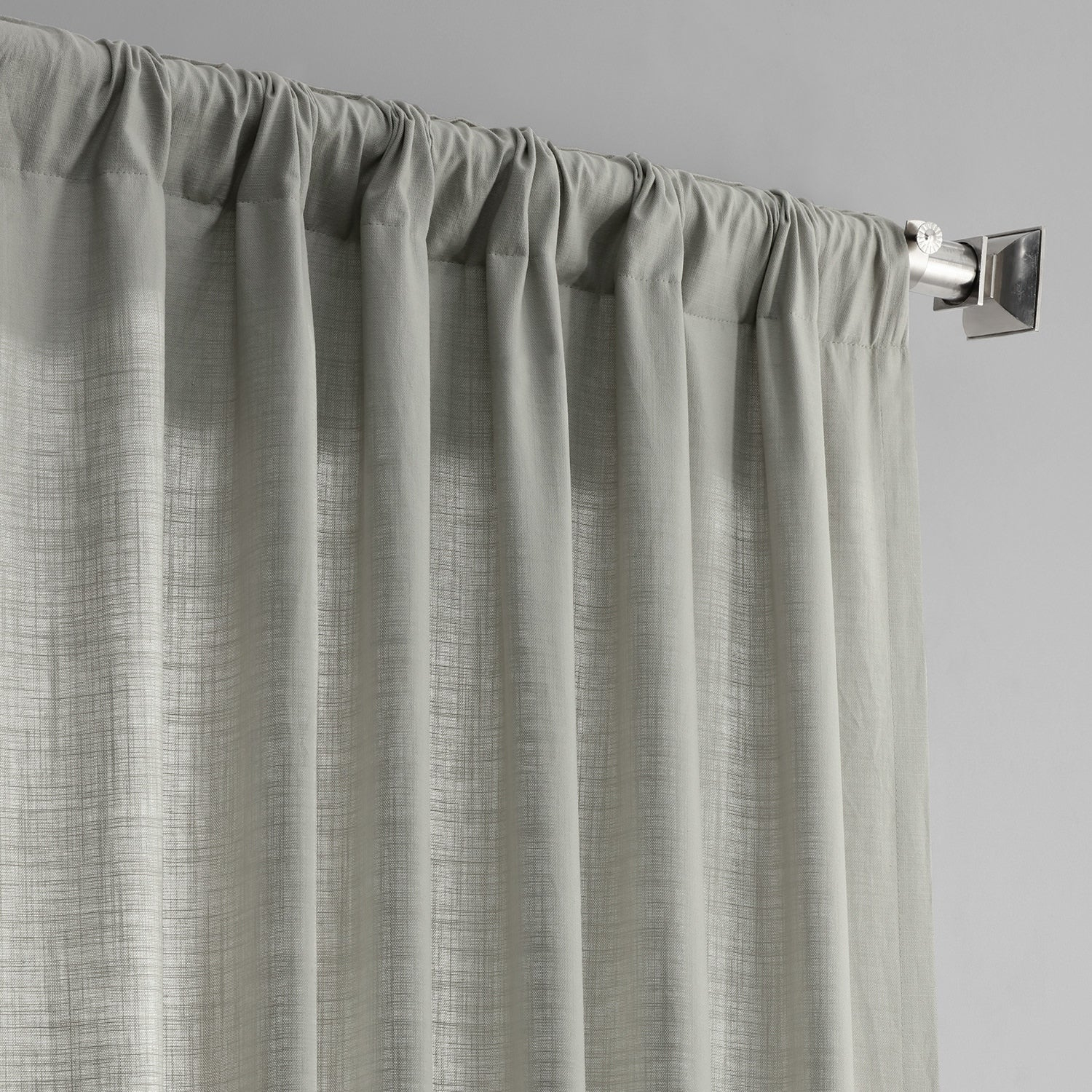 Exclusive Fabrics Solid Country Cotton Linen Weave Curtain Panel Throughout Solid Country Cotton Linen Weave Curtain Panels (View 10 of 30)