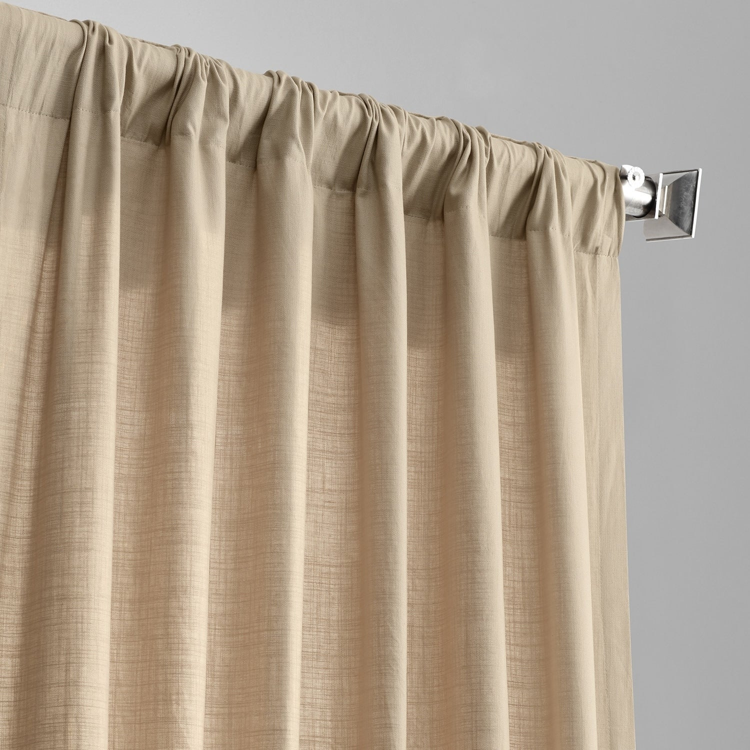 Exclusive Fabrics Solid Country Cotton Linen Weave Curtain Panel Throughout Solid Country Cotton Linen Weave Curtain Panels (View 9 of 30)