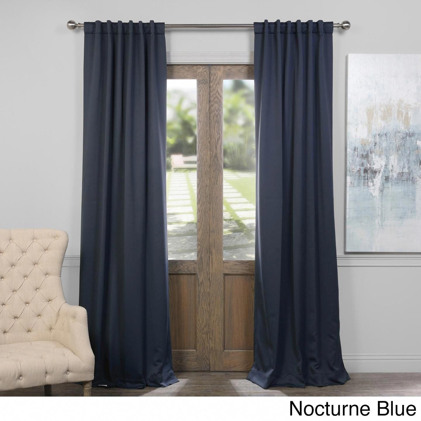 Exclusive Fabrics Thermal Insulated Solid Blackout 108 Inch In Solid Insulated Thermal Blackout Curtain Panel Pairs (View 16 of 30)