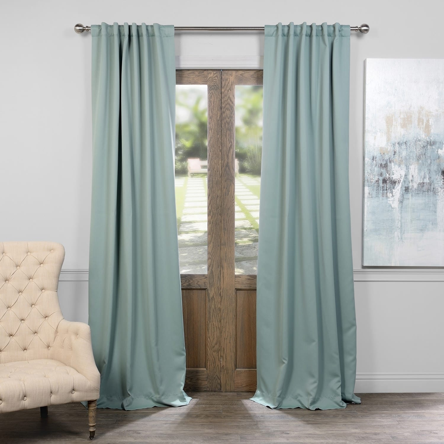 Exclusive Fabrics Thermal Insulated Solid Blackout 120 Inch Curtain Panel Pair – 50 X 120 For Solid Insulated Thermal Blackout Curtain Panel Pairs (View 21 of 30)