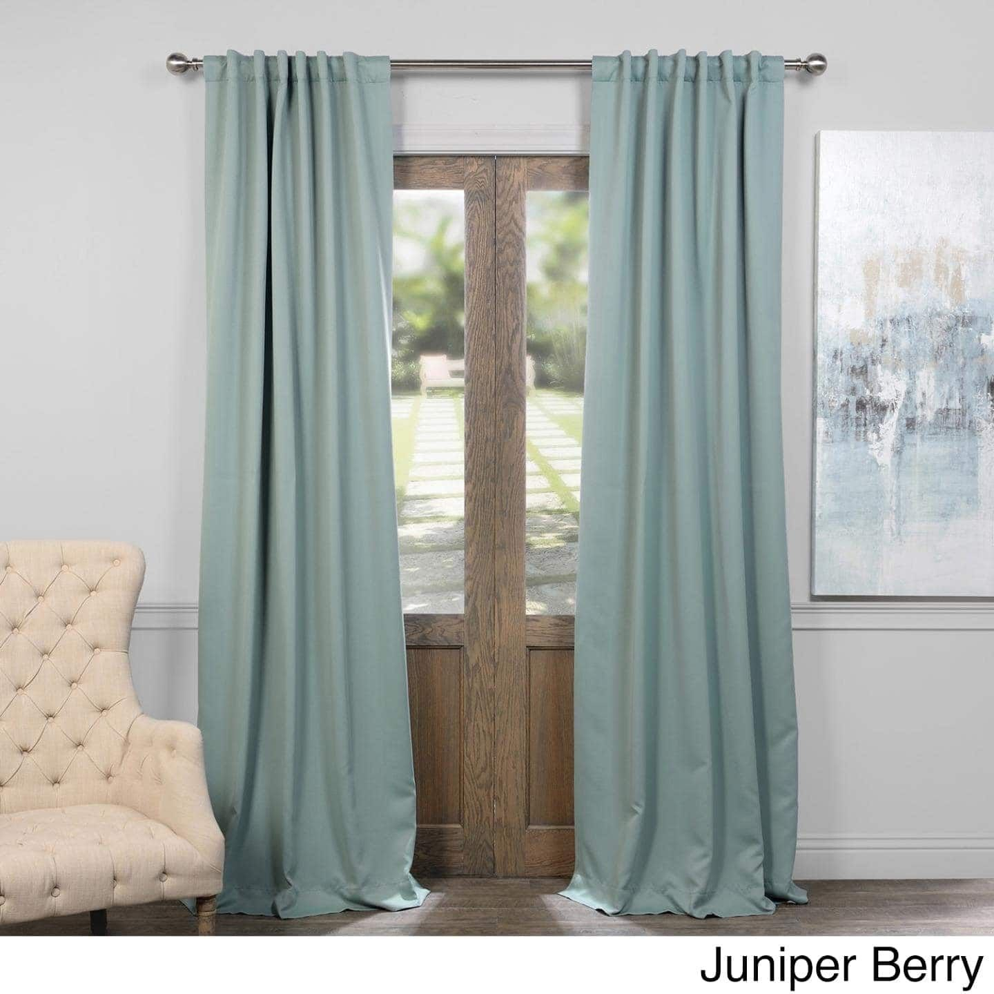 Exclusive Fabrics Thermal Insulated Solid Blackout 84 Inch With Regard To Solid Thermal Insulated Blackout Curtain Panel Pairs (View 4 of 30)