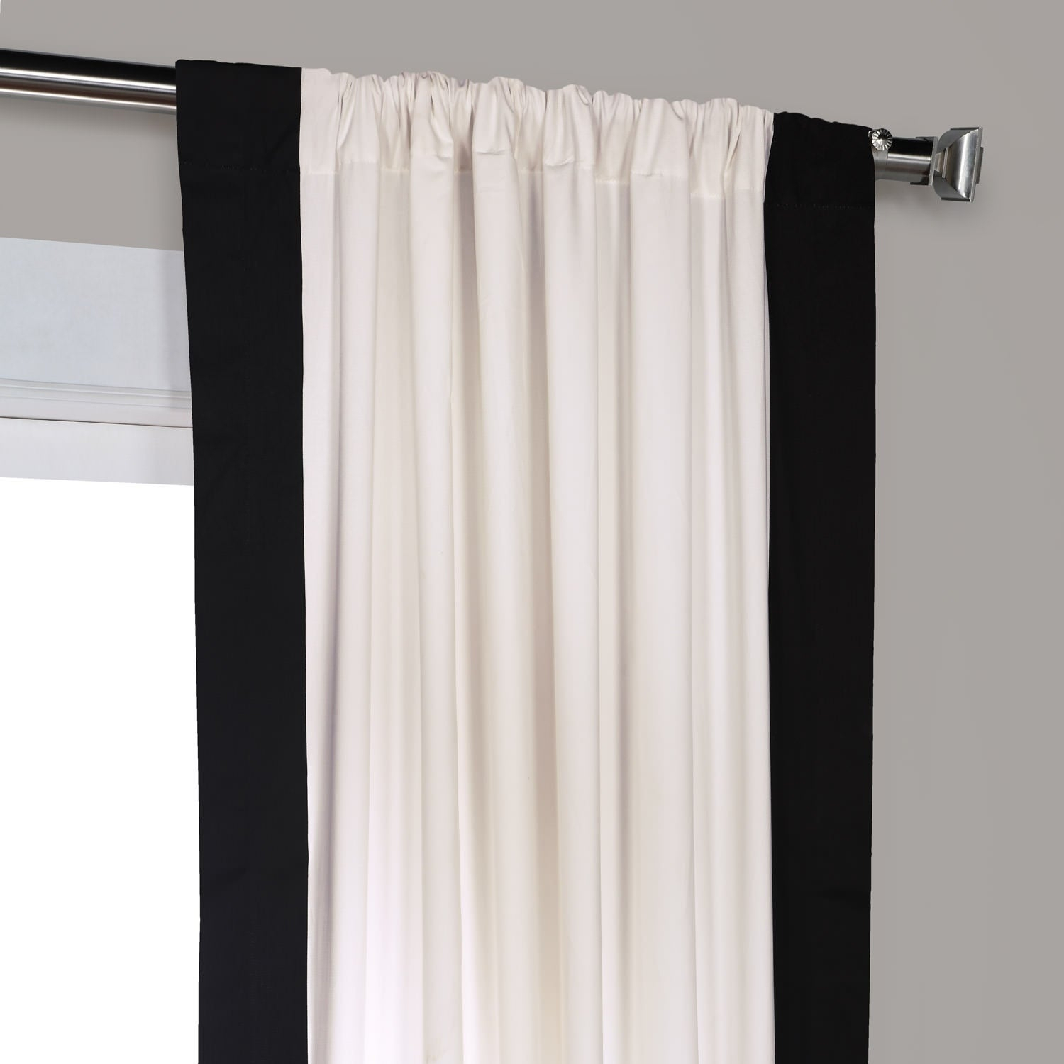 Exclusive Fabrics Vertical Colorblock Panama Curtain Pertaining To Vertical Colorblock Panama Curtains (View 2 of 30)