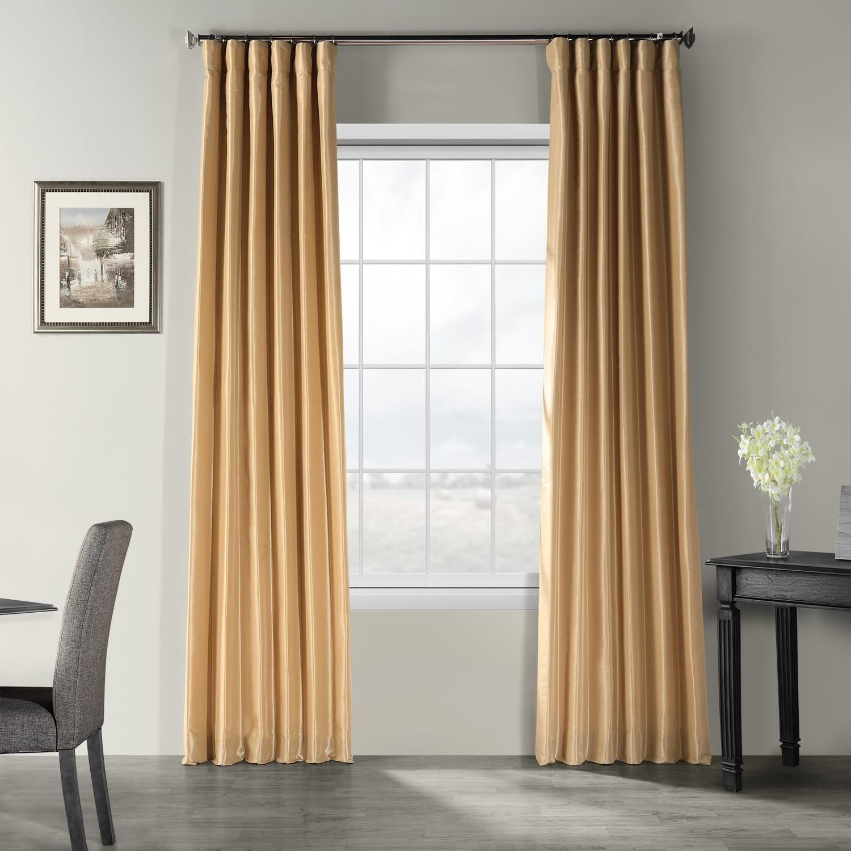 Exclusive Fabrics Vintage Textured Faux Dupioni Silk Curtain Panel Throughout Vintage Faux Textured Dupioni Silk Curtain Panels (View 7 of 30)