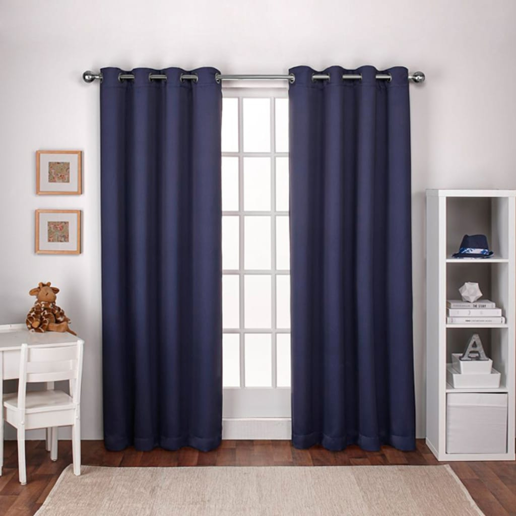 Exclusive Home 2 Pack Textured Woven Blackout Window For Easton Thermal Woven Blackout Grommet Top Curtain Panel Pairs (View 19 of 20)