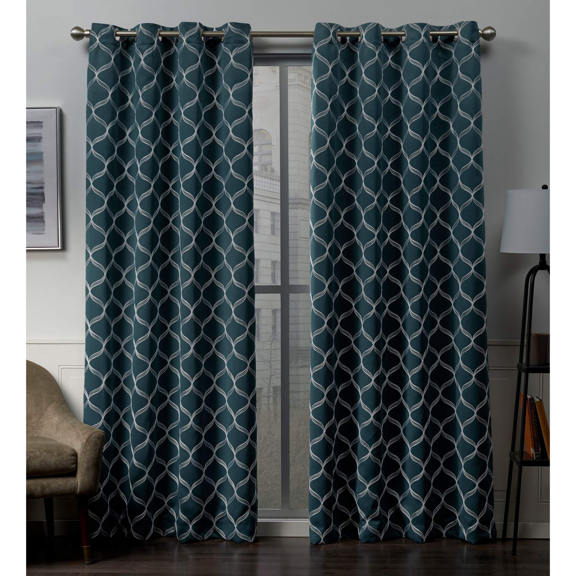 Exclusive Home Amelia Woven Blackout Grommet Top Curtain Panel Pair Intended For Woven Blackout Grommet Top Curtain Panel Pairs (View 5 of 30)