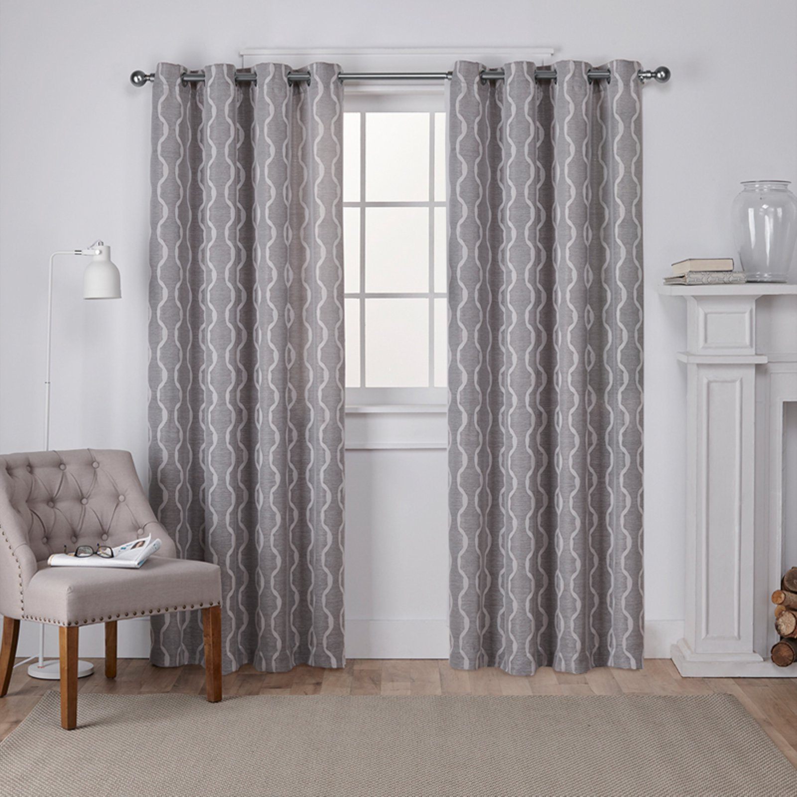 Featured Photo of Baroque Linen Grommet Top Curtain Panel Pairs