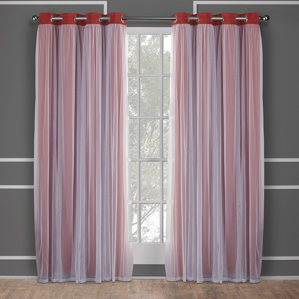 Exclusive Home Catarina Layered Solid Blackout And Sheer Window Curtain Panel Pair With Grommet Top For Catarina Layered Curtain Panel Pairs With Grommet Top (View 13 of 20)