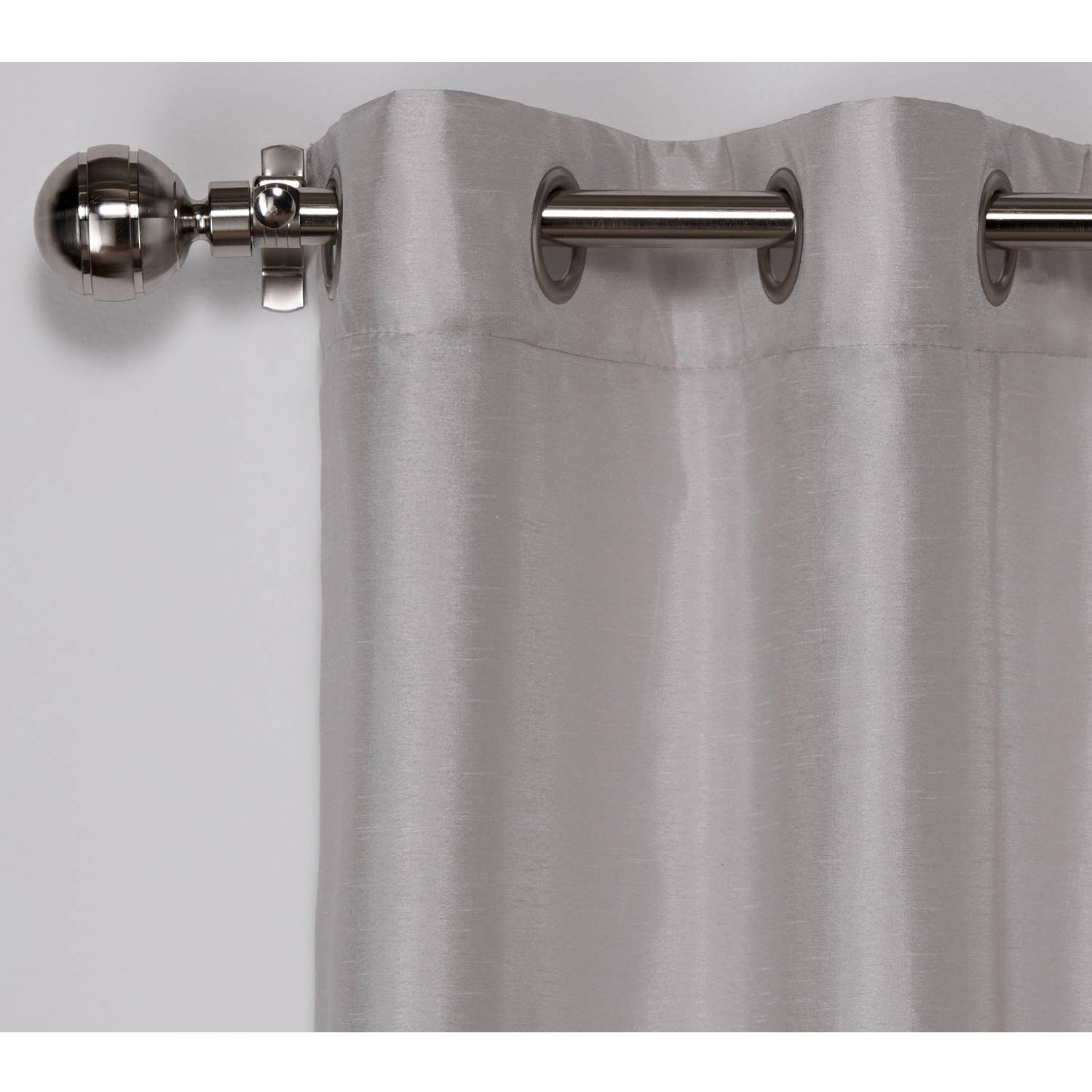 Exclusive Home Chateau Striped Faux Silk Grommet Top Curtain Panel, Set Of 2 Regarding Ocean Striped Window Curtain Panel Pairs With Grommet Top (View 11 of 20)