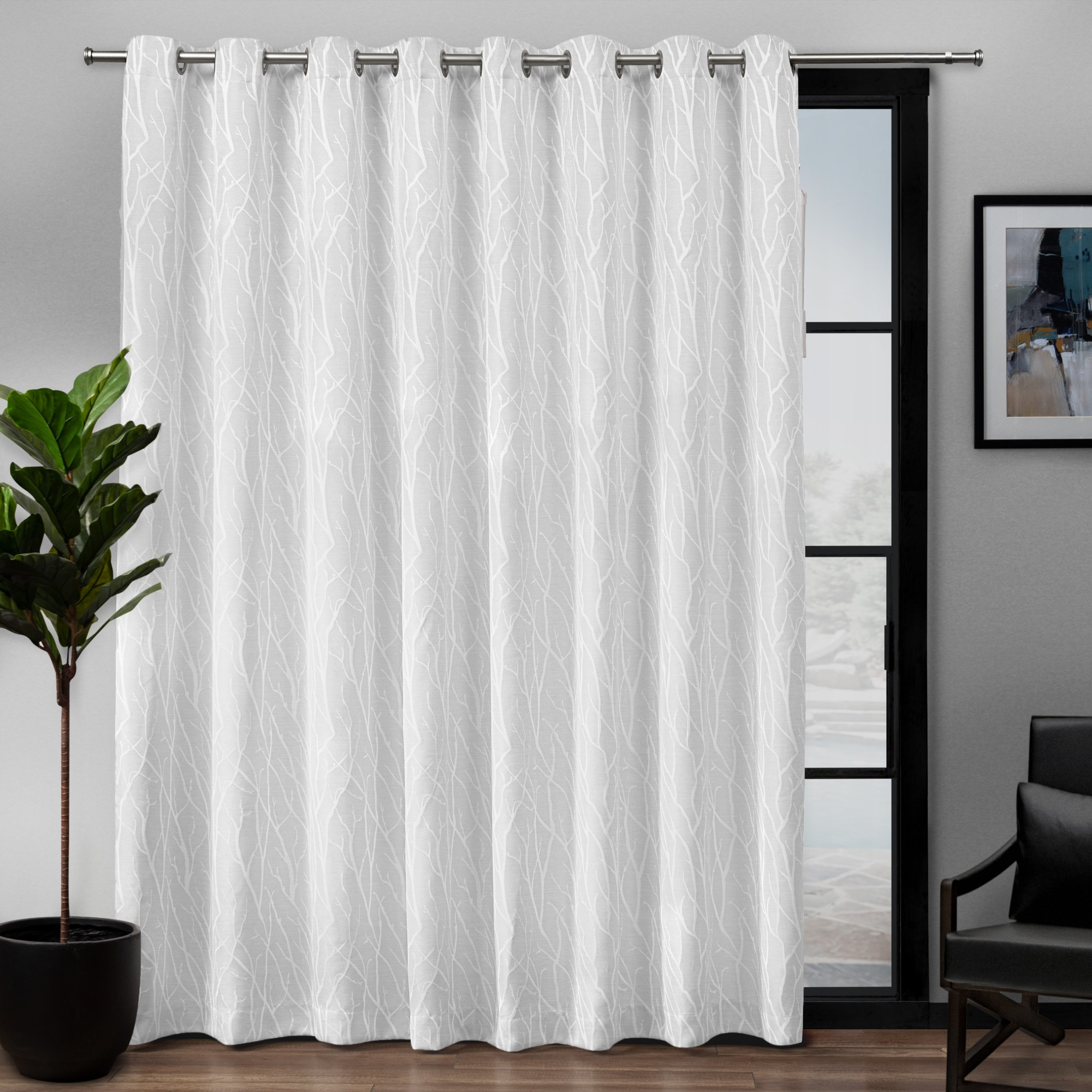 Exclusive Home Curtains 1 Pack Forest Hill Patio Woven Pertaining To Forest Hill Woven Blackout Grommet Top Curtain Panel Pairs (View 11 of 20)
