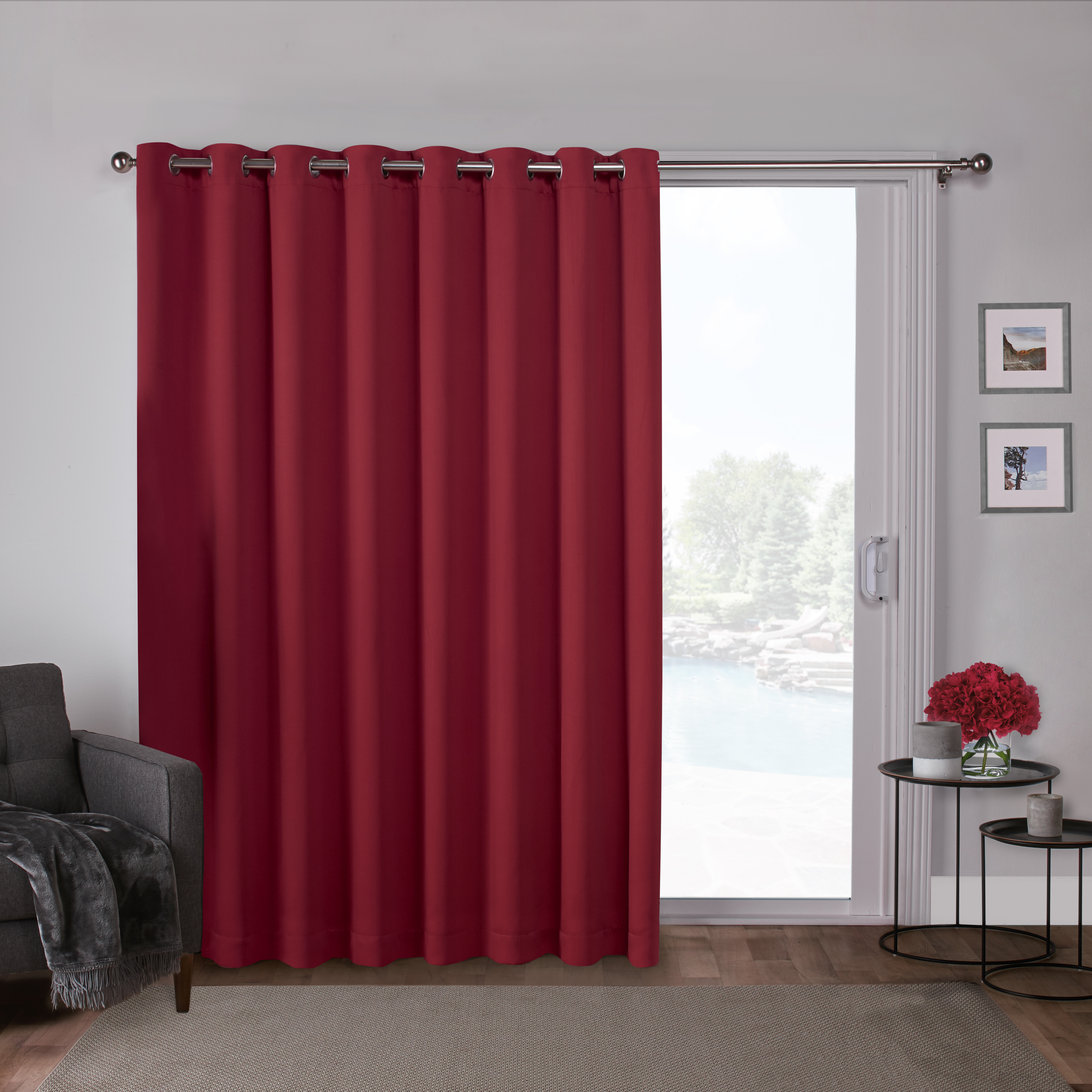 Exclusive Home Curtains 1 Pack Sateen Blackout Wide Patio Grommet Top Single Curtain Panel For Patio Grommet Top Single Curtain Panels (View 17 of 20)