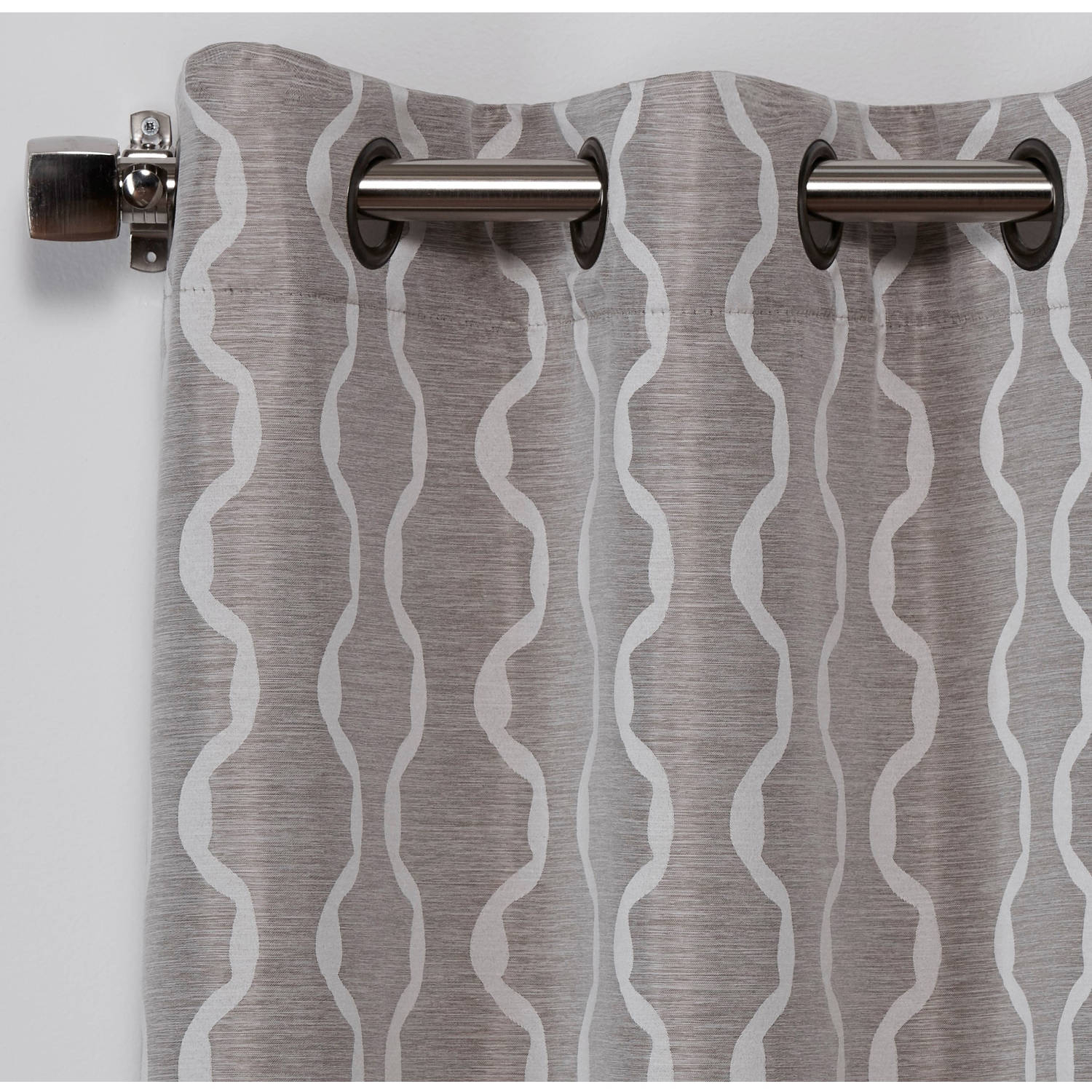 Exclusive Home Curtains 2 Pack Baroque Textured Linen Look Jacquard Grommet Top Curtain Panels With Baroque Linen Grommet Top Curtain Panel Pairs (View 3 of 20)