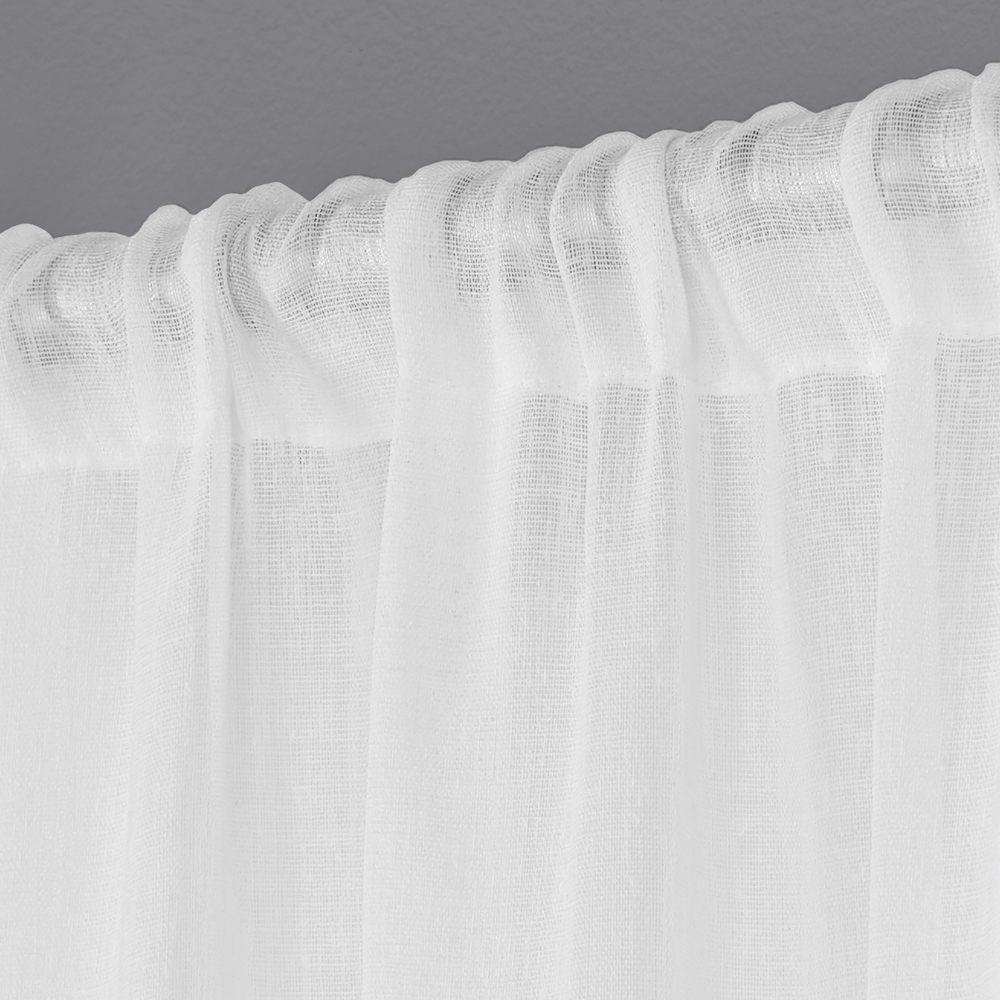 Exclusive Home Curtains 2 Pack Belgian Textured Linen Look Jacquard Sheer Rod Pocket Curtain Panels Within Belgian Sheer Window Curtain Panel Pairs With Rod Pocket (View 18 of 20)