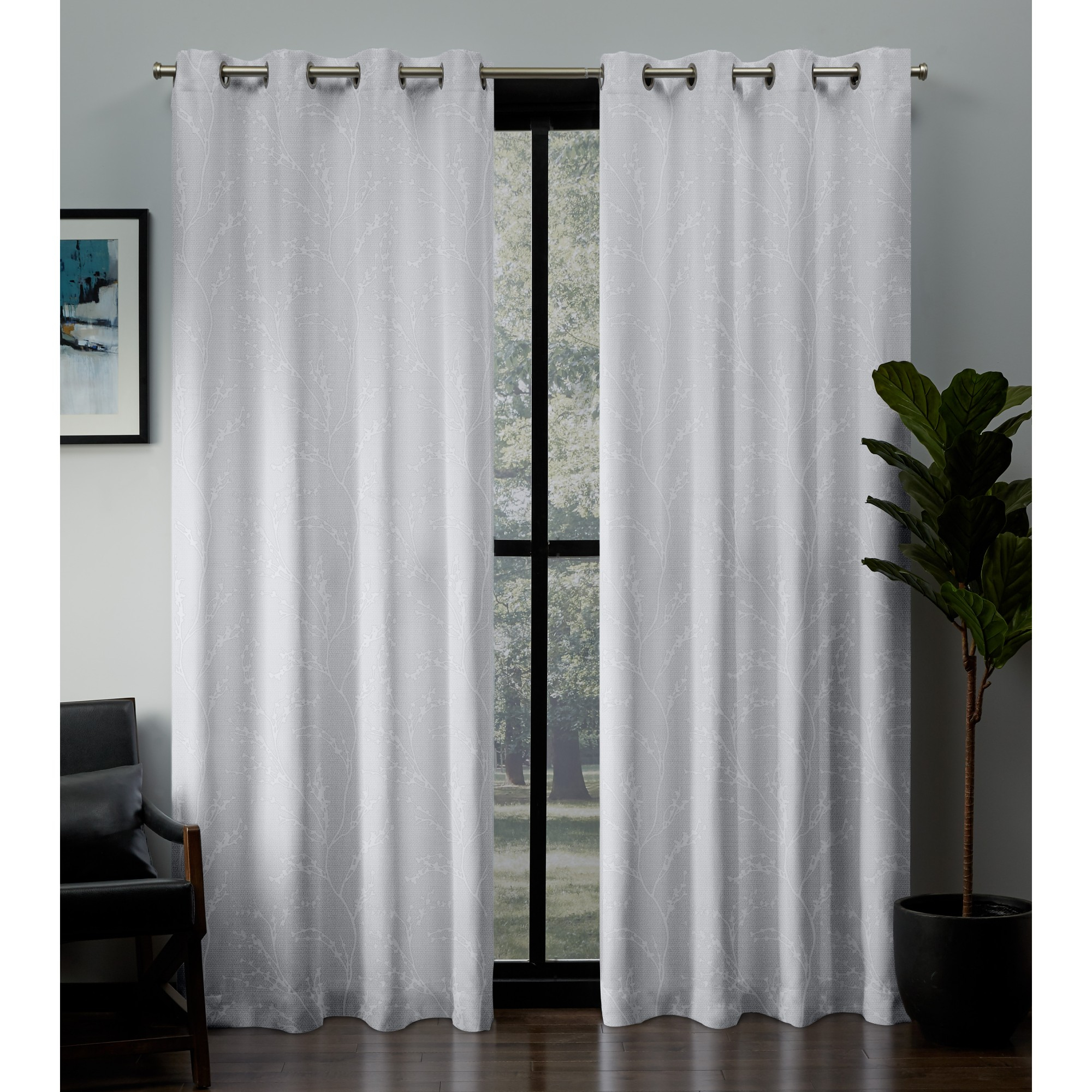 Exclusive Home Curtains 2 Pack Kilberry Woven Blackout Grommet Top Curtain Panels With Forest Hill Woven Blackout Grommet Top Curtain Panel Pairs (View 16 of 20)