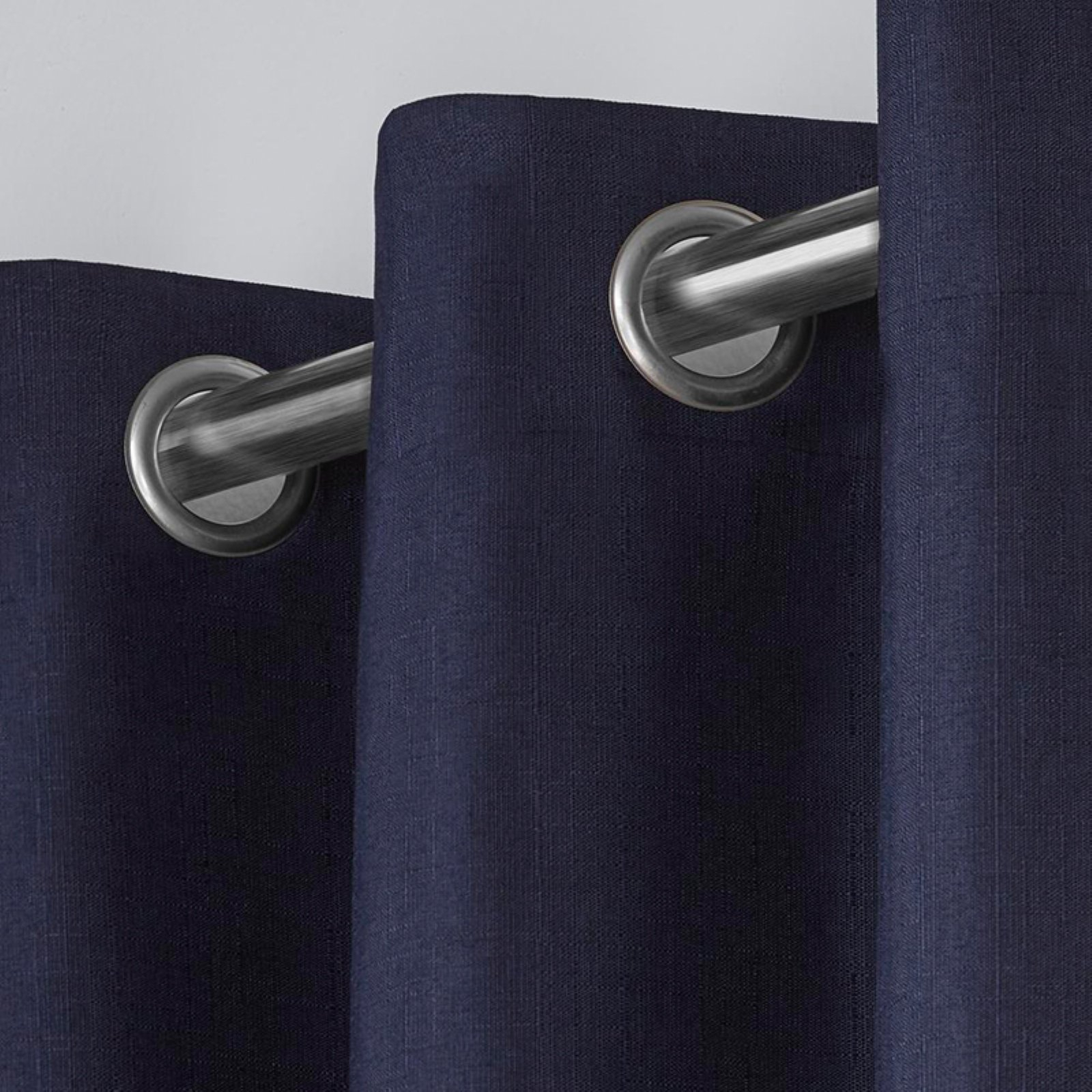 Exclusive Home Curtains 2 Pack London Textured Linen Thermal Grommet Top Curtain Panels Throughout London Blackout Panel Pair (View 6 of 20)