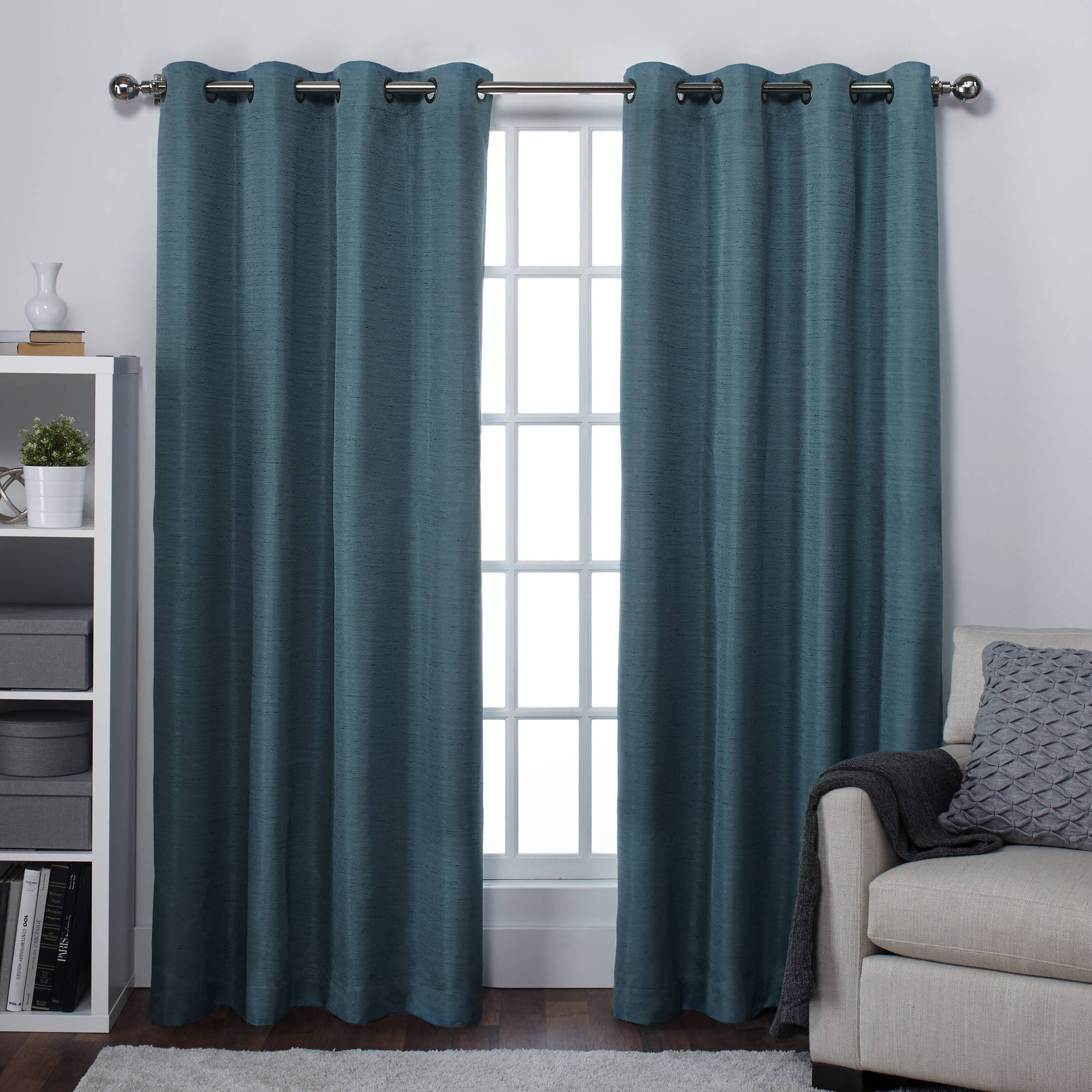 Exclusive Home Curtains 2 Pack Raw Silk Thermal Grommet Top Curtain Panels In Raw Silk Thermal Insulated Grommet Top Curtain Panel Pairs (View 10 of 20)