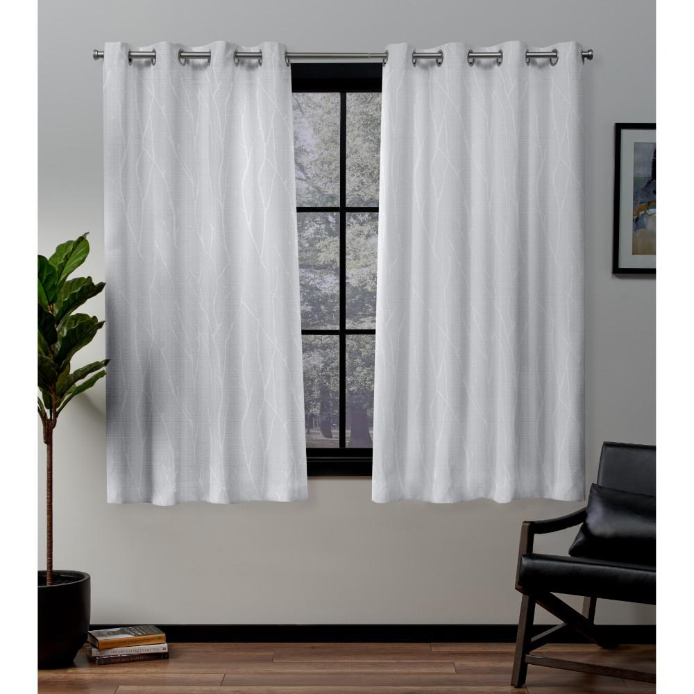 Exclusive Home Curtains Forest Hill Winter Grommet Top Curtain Pair For Woven Blackout Grommet Top Curtain Panel Pairs (View 16 of 30)