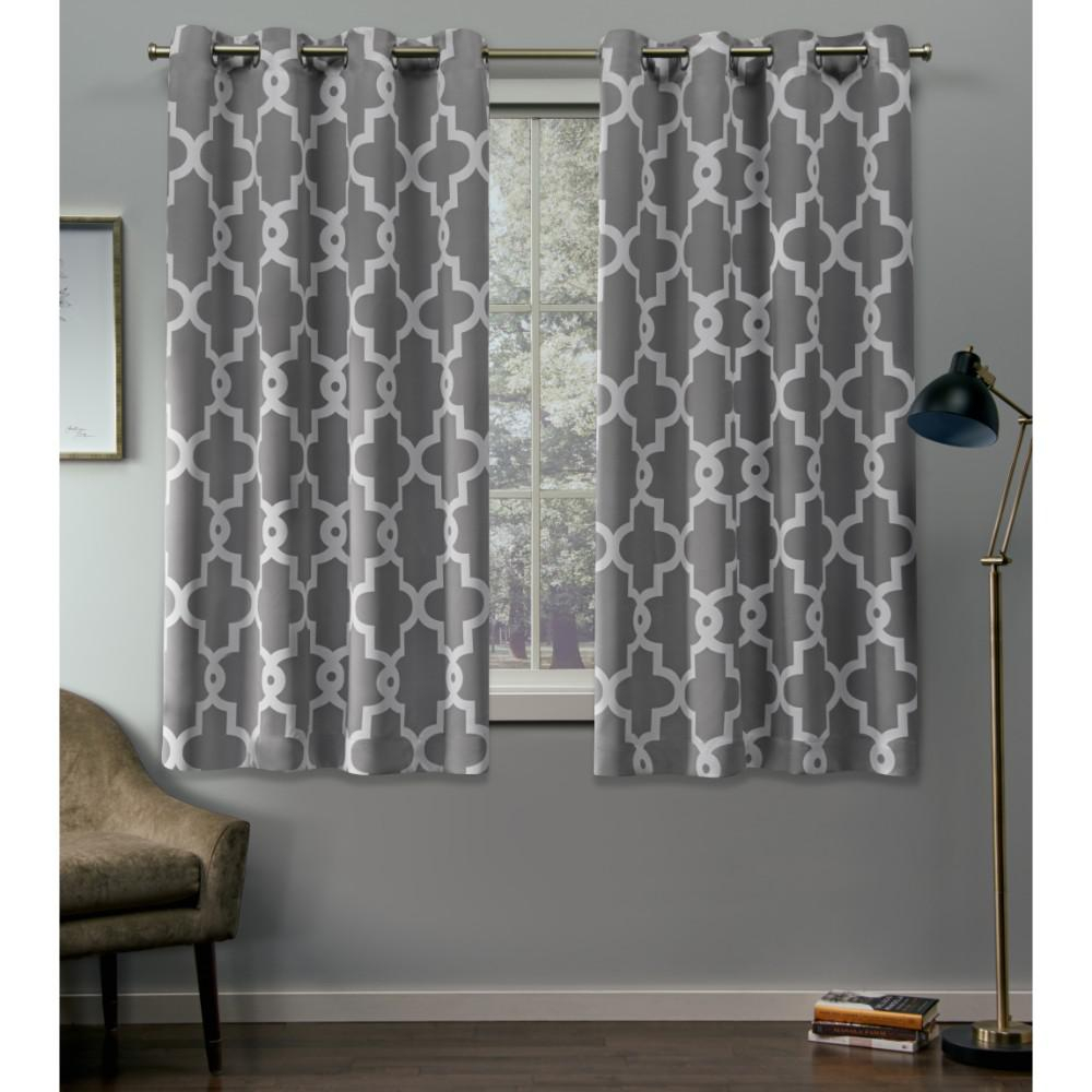 Exclusive Home Curtains Ironwork 52 In. W X 63 In (View 13 of 30)