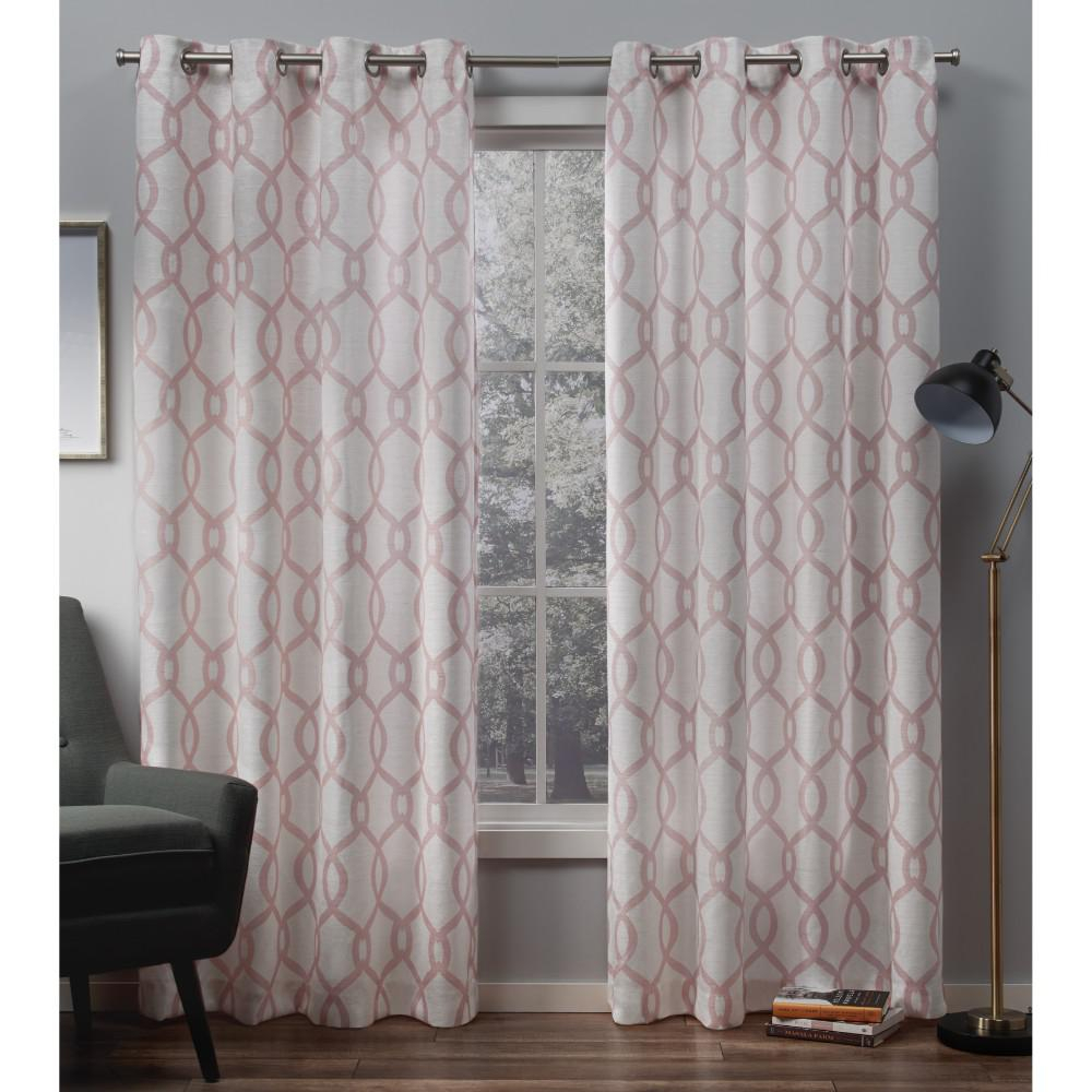 Exclusive Home Curtains Kochi Blush Grommet Top Curtain Pair In Kochi Linen Blend Window Grommet Top Curtain Panel Pairs (View 4 of 20)