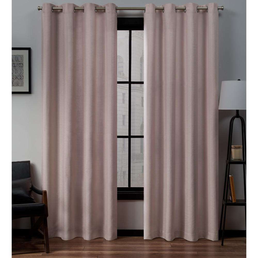 Exclusive Home Curtains Loha Linen Grommet Top Curtain Panel Pair In Blush – 54 In. W X 84 In (View 8 of 30)