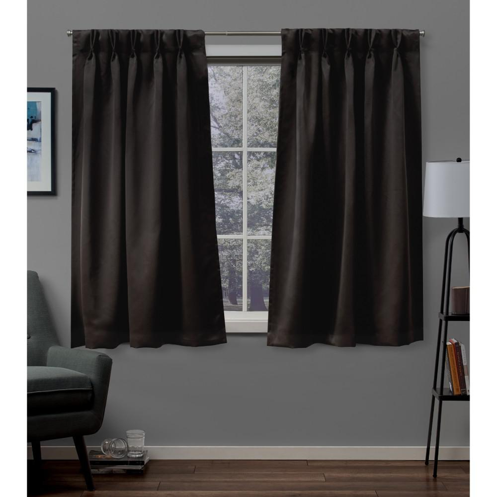 Popular Photo of Sateen Woven Blackout Curtain Panel Pairs With Pinch Pleat Top