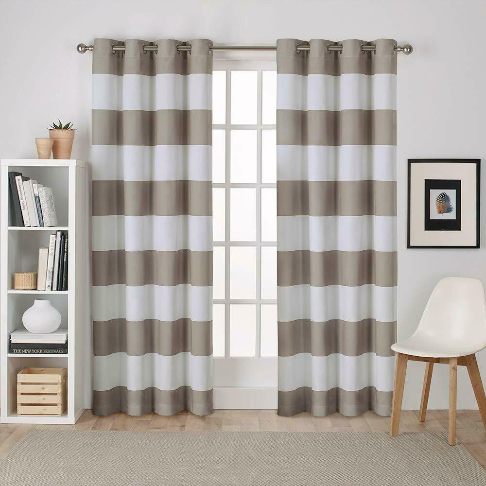 Exclusive Home Curtains Surfside Cabana Stripe Cotton Window Curtain Panel Pair In Tassels Applique Sheer Rod Pocket Top Curtain Panel Pairs (View 10 of 30)