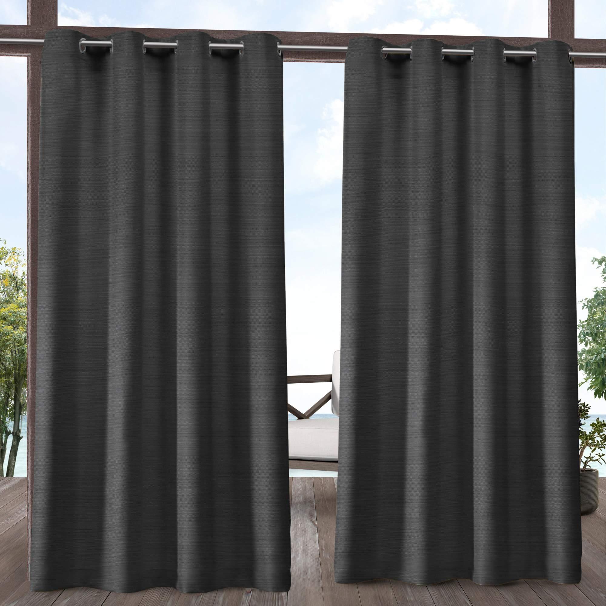 Exclusive Home Delano Indoor/outdoor Grommet Top Curtain Panel Pair For Delano Indoor/outdoor Grommet Top Curtain Panel Pairs (View 5 of 20)