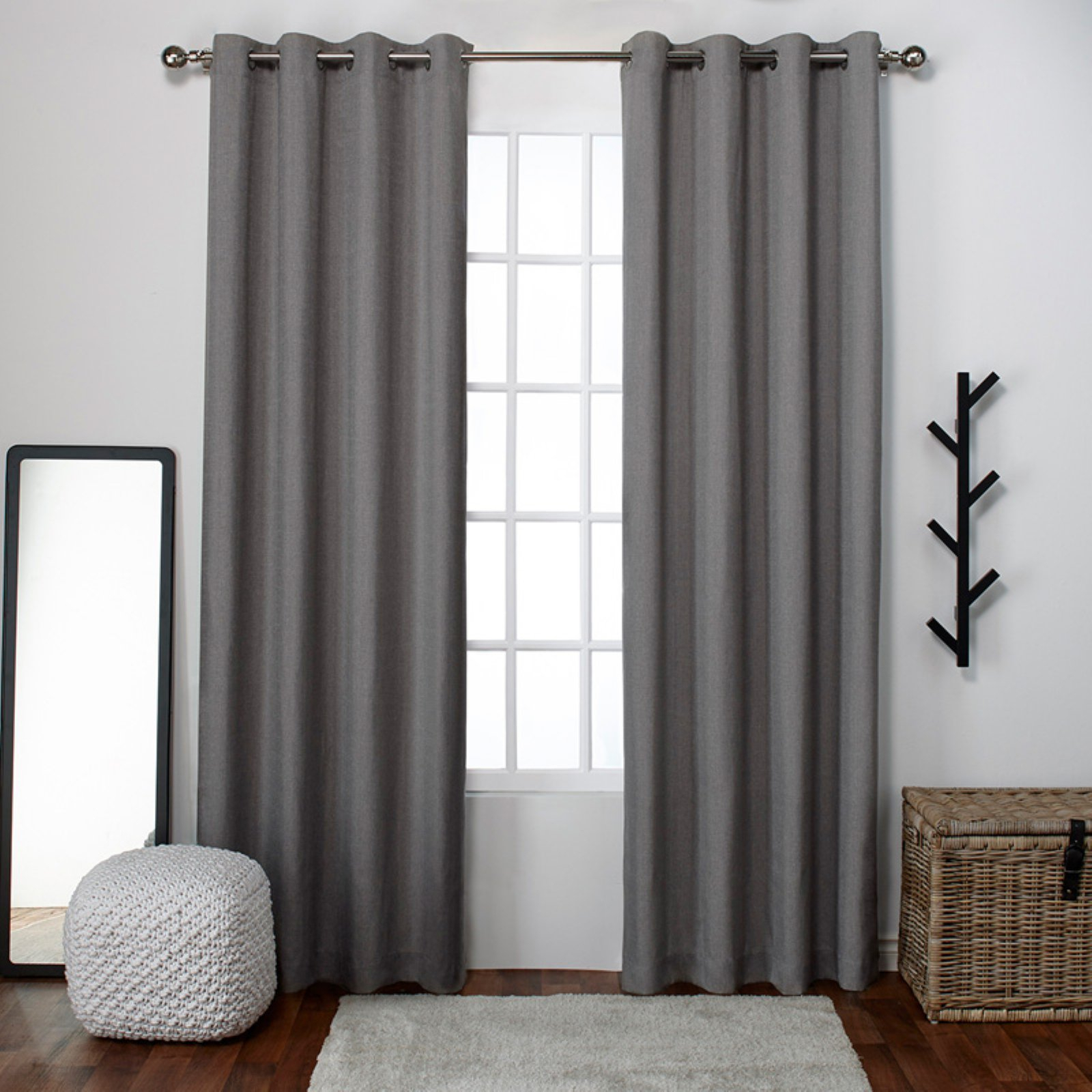 Exclusive Home Loha Grommet Curtain Panel Pair Winter White Within Luxury Collection Cranston Sheer Curtain Panel Pairs (View 18 of 20)