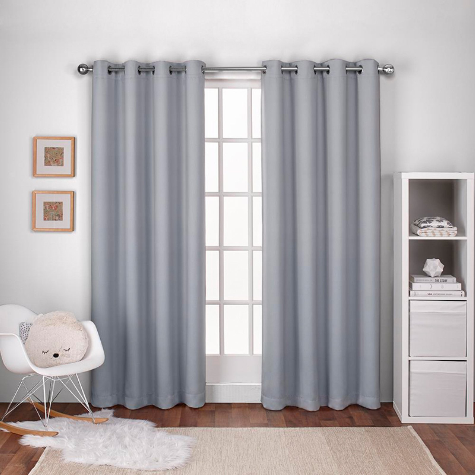 Exclusive Home Textured Woven Blackout Window Curtain Panel Pair With Grommet Top Intended For Woven Blackout Grommet Top Curtain Panel Pairs (View 7 of 30)