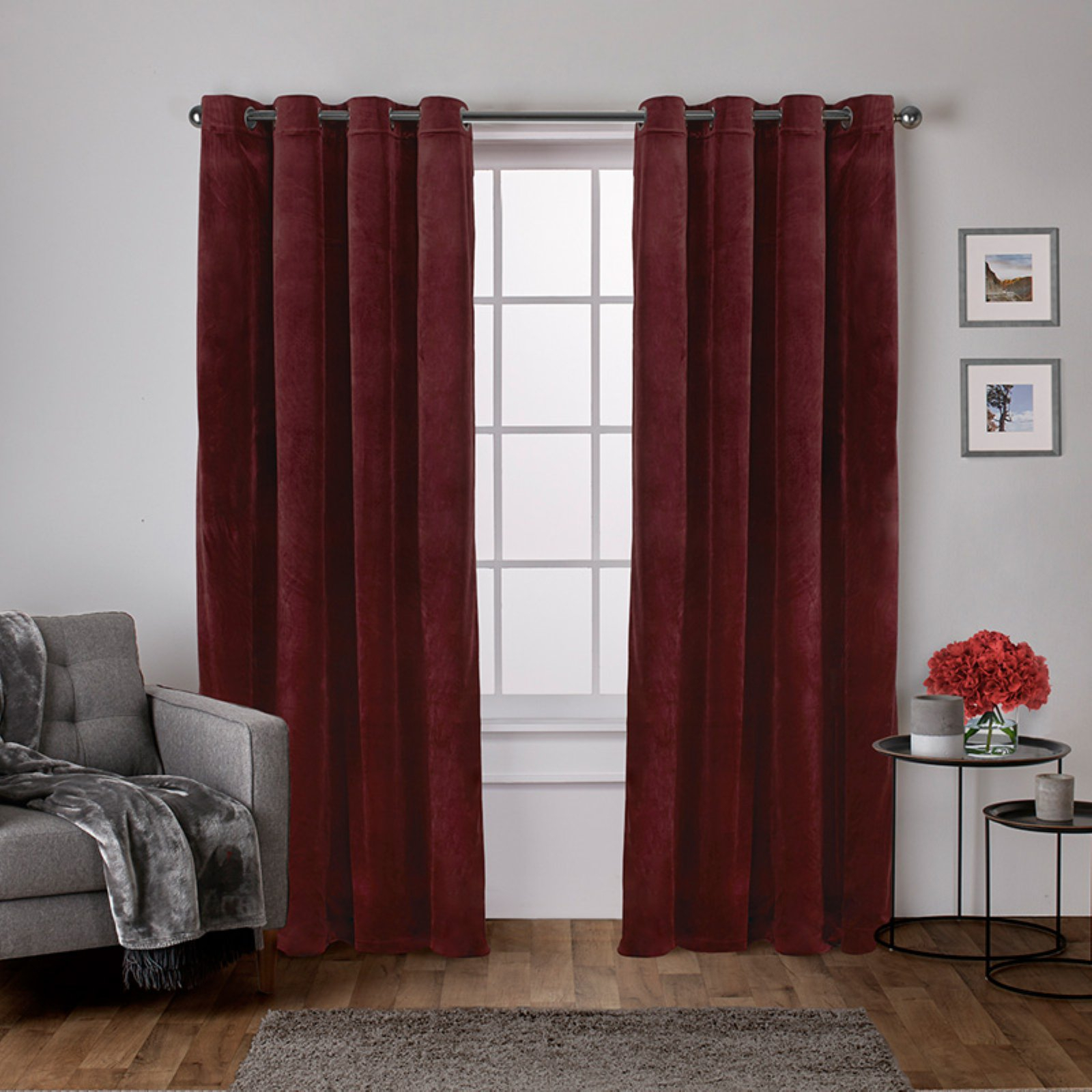 Exclusive Home Velvet Heavyweight Grommet Top Curtain Panel Inside Velvet Heavyweight Grommet Top Curtain Panel Pairs (View 2 of 30)